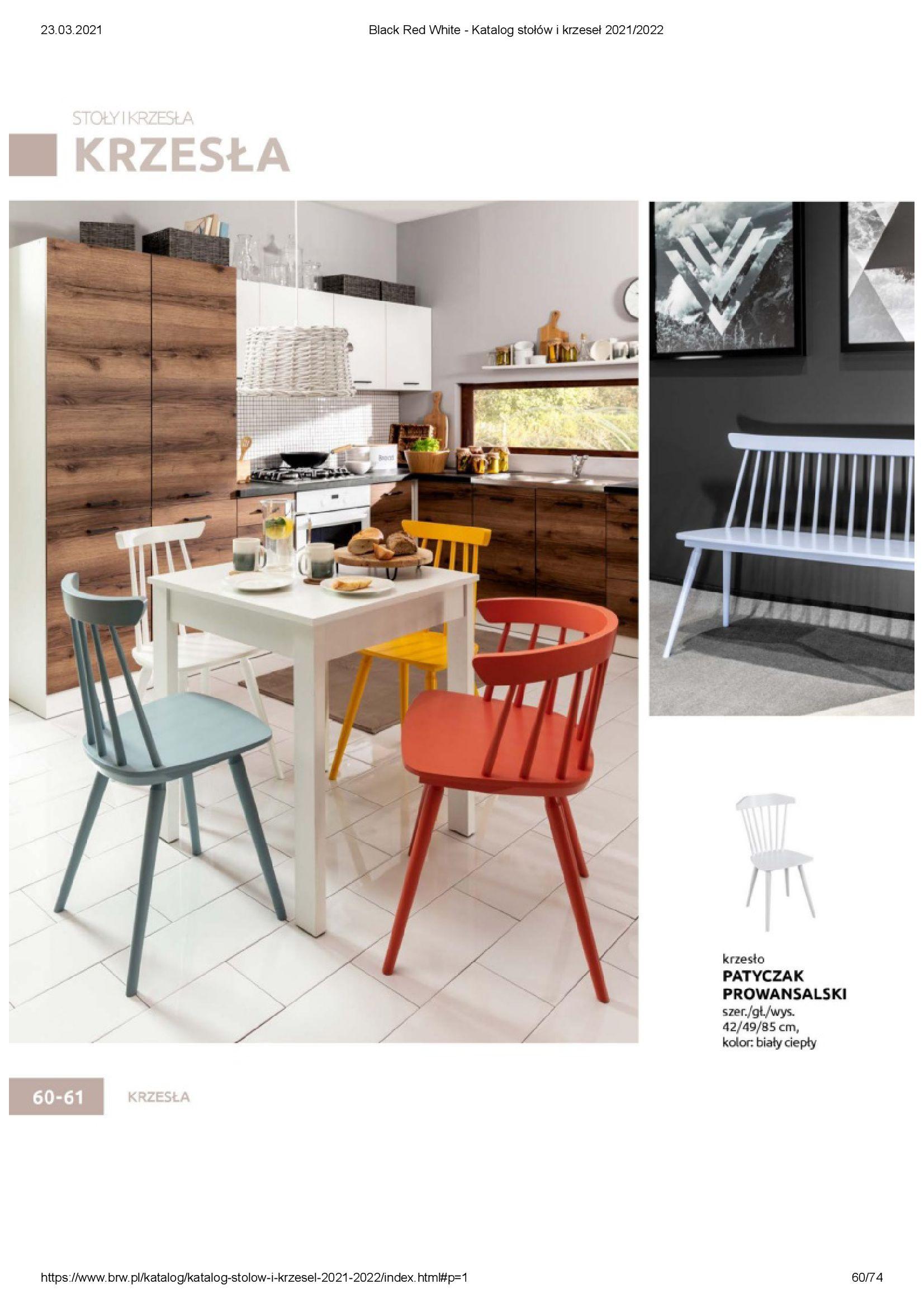 Gazetka Black Red White: Katalog stołów i krzeseł 2021-03-23 page-60