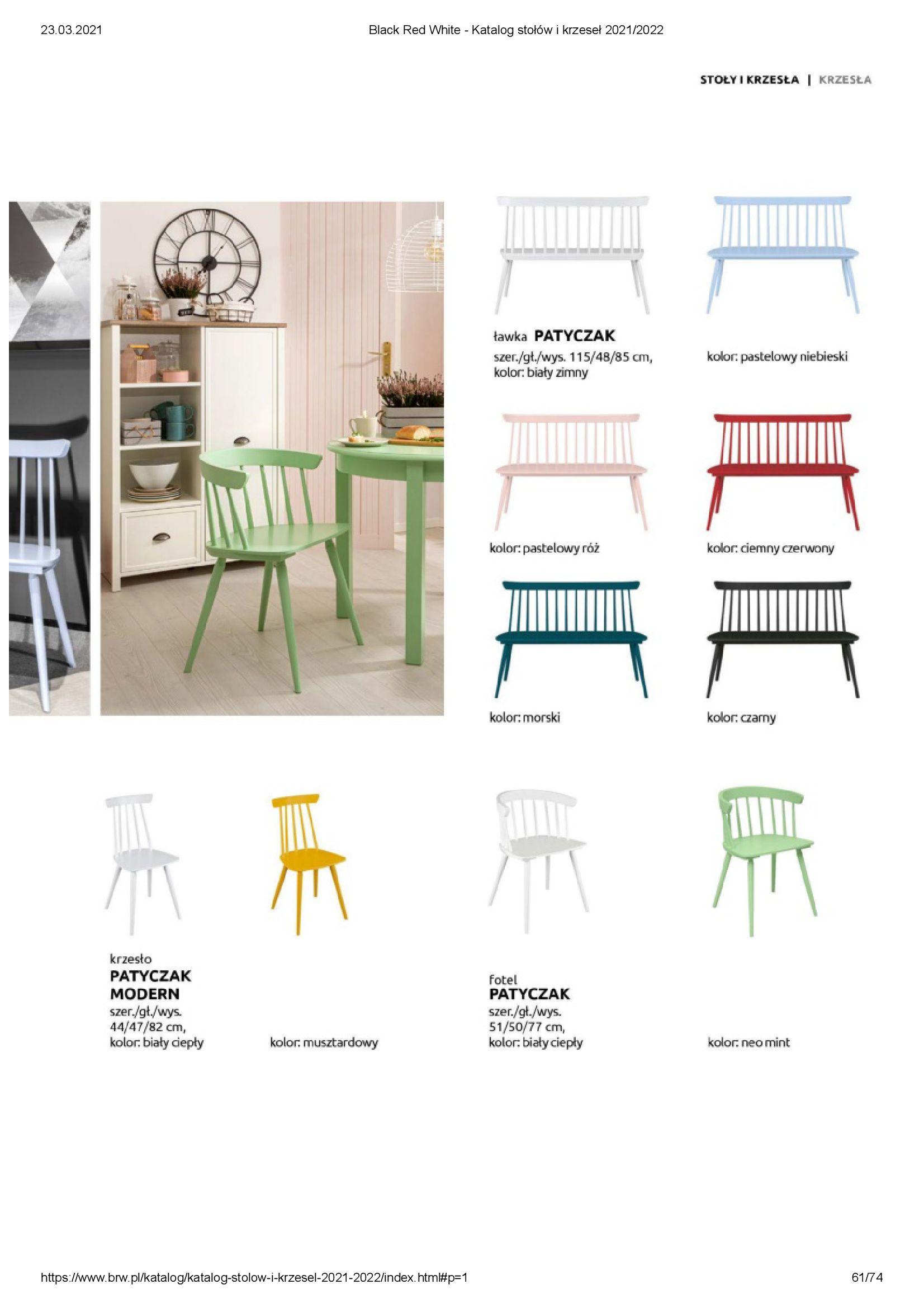 Gazetka Black Red White: Katalog stołów i krzeseł 2021-03-23 page-61