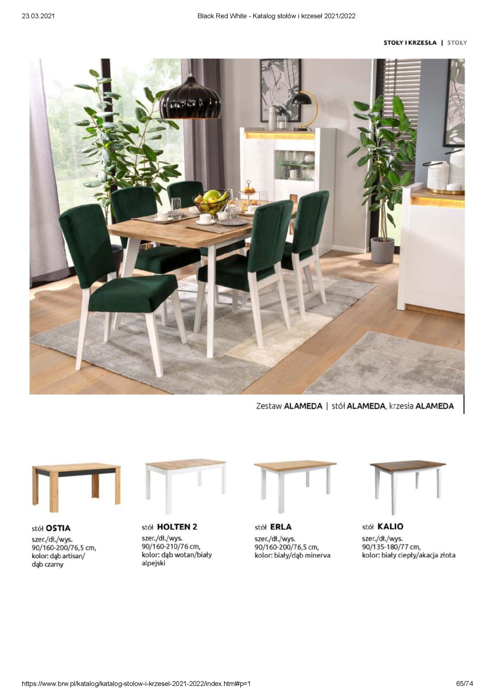 Gazetka Black Red White: Katalog stołów i krzeseł 2021-03-23 page-65