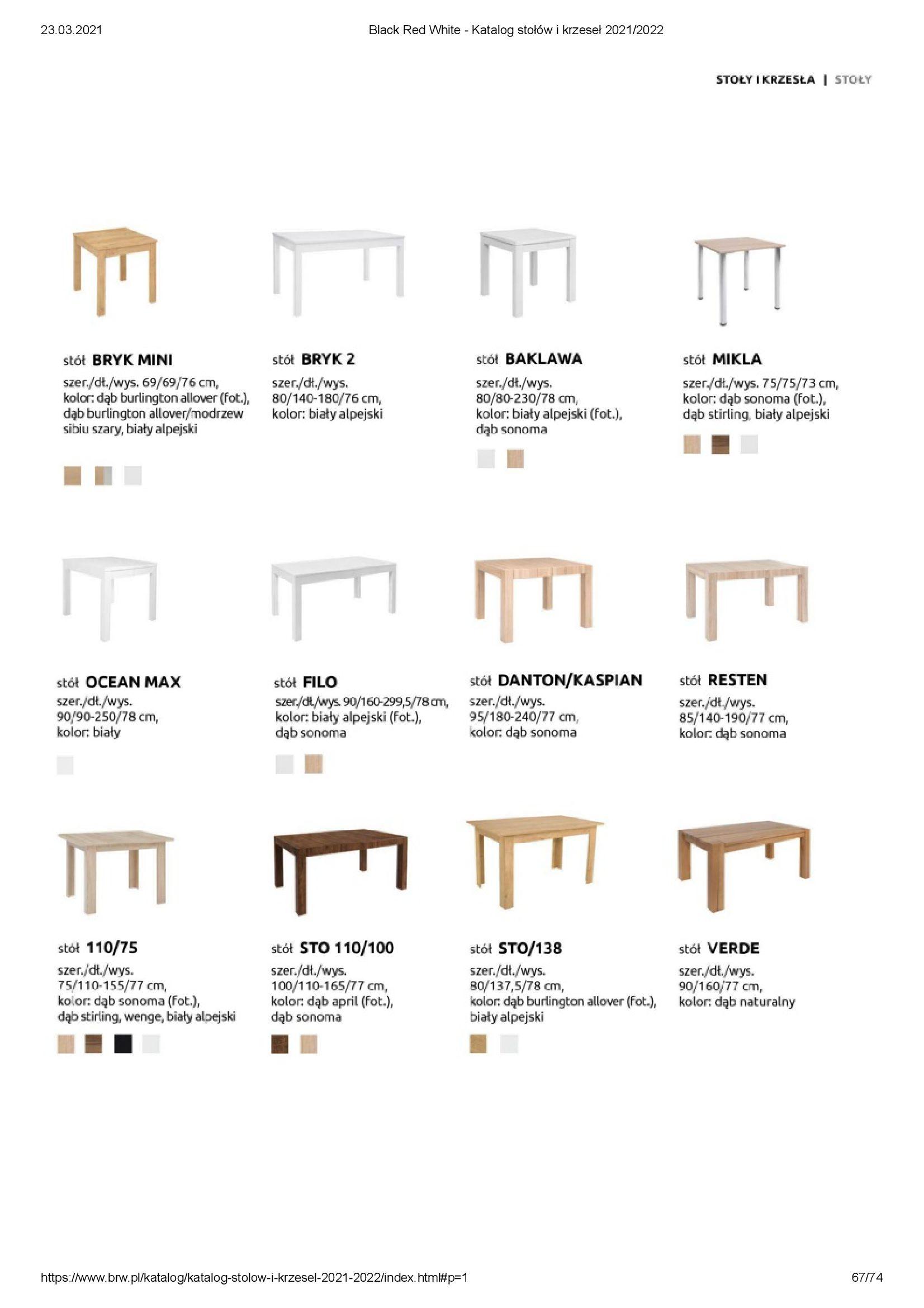Gazetka Black Red White: Katalog stołów i krzeseł 2021-03-23 page-67