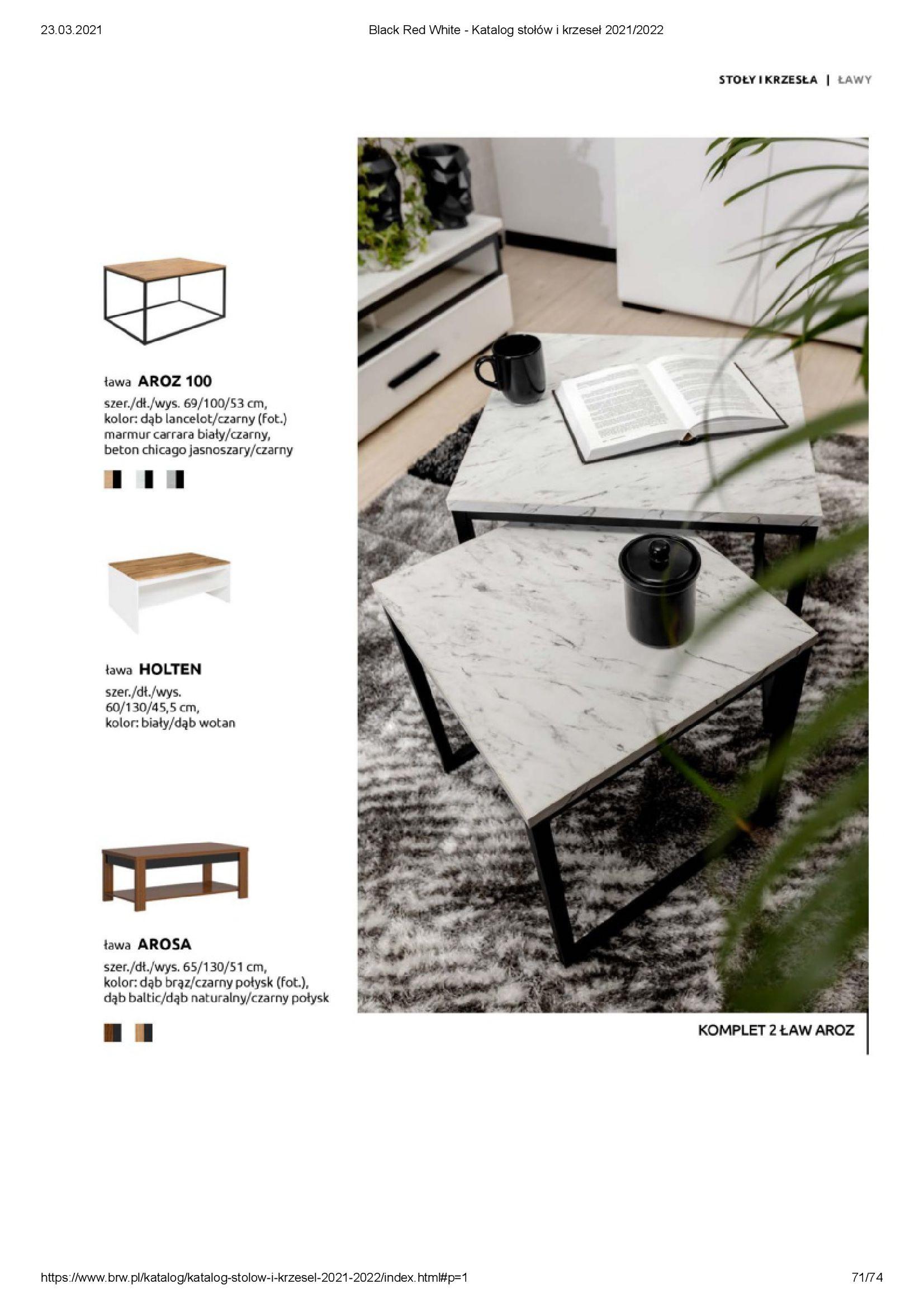 Gazetka Black Red White: Katalog stołów i krzeseł 2021-03-23 page-71