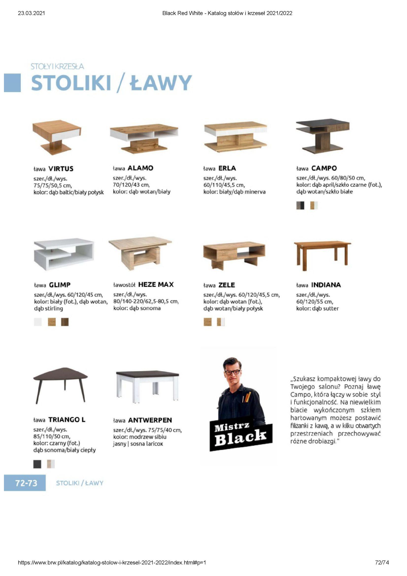 Gazetka Black Red White: Katalog stołów i krzeseł 2021-03-23 page-72