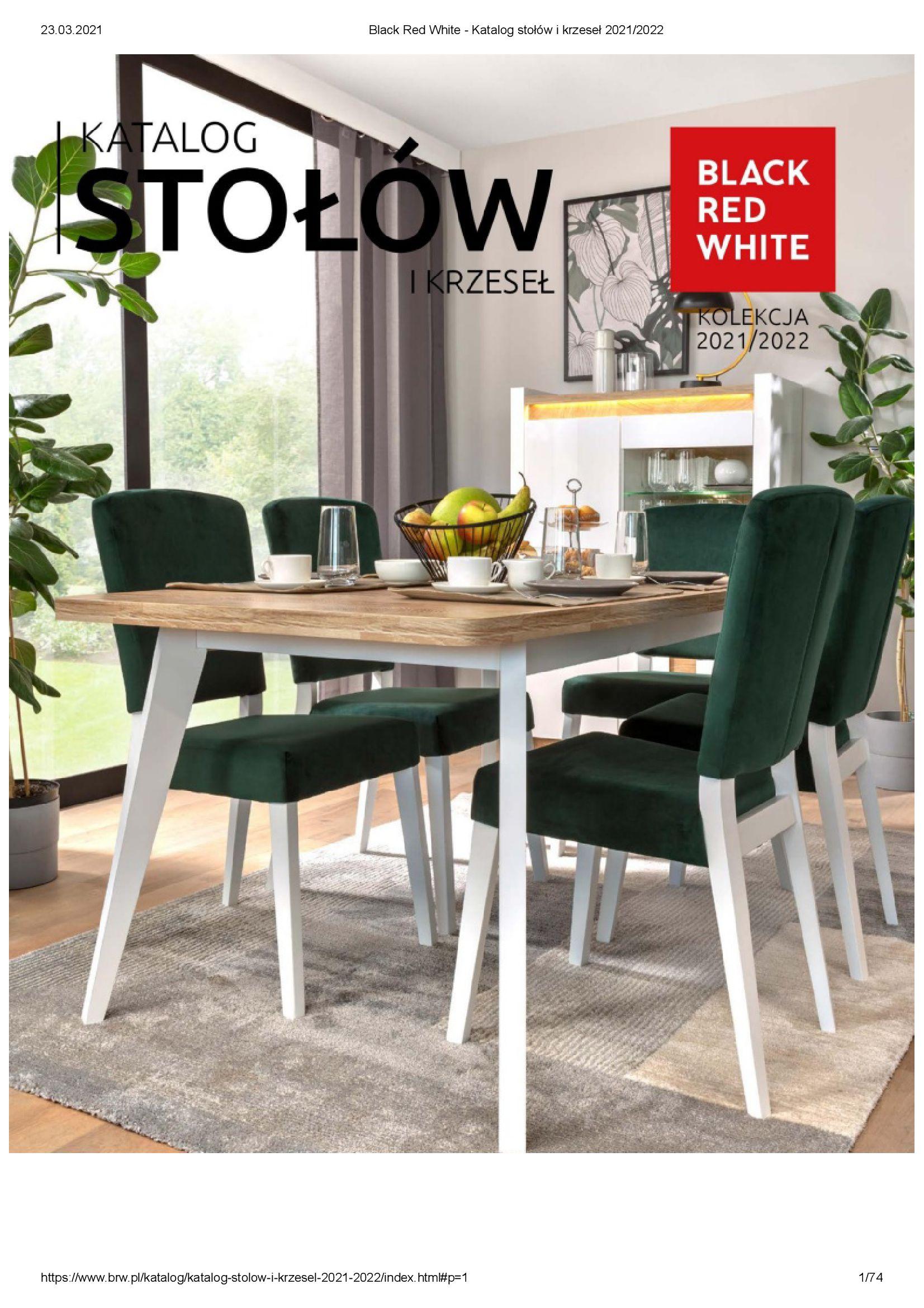 Black Red White:  Katalog stołów i krzeseł 22.03.2021