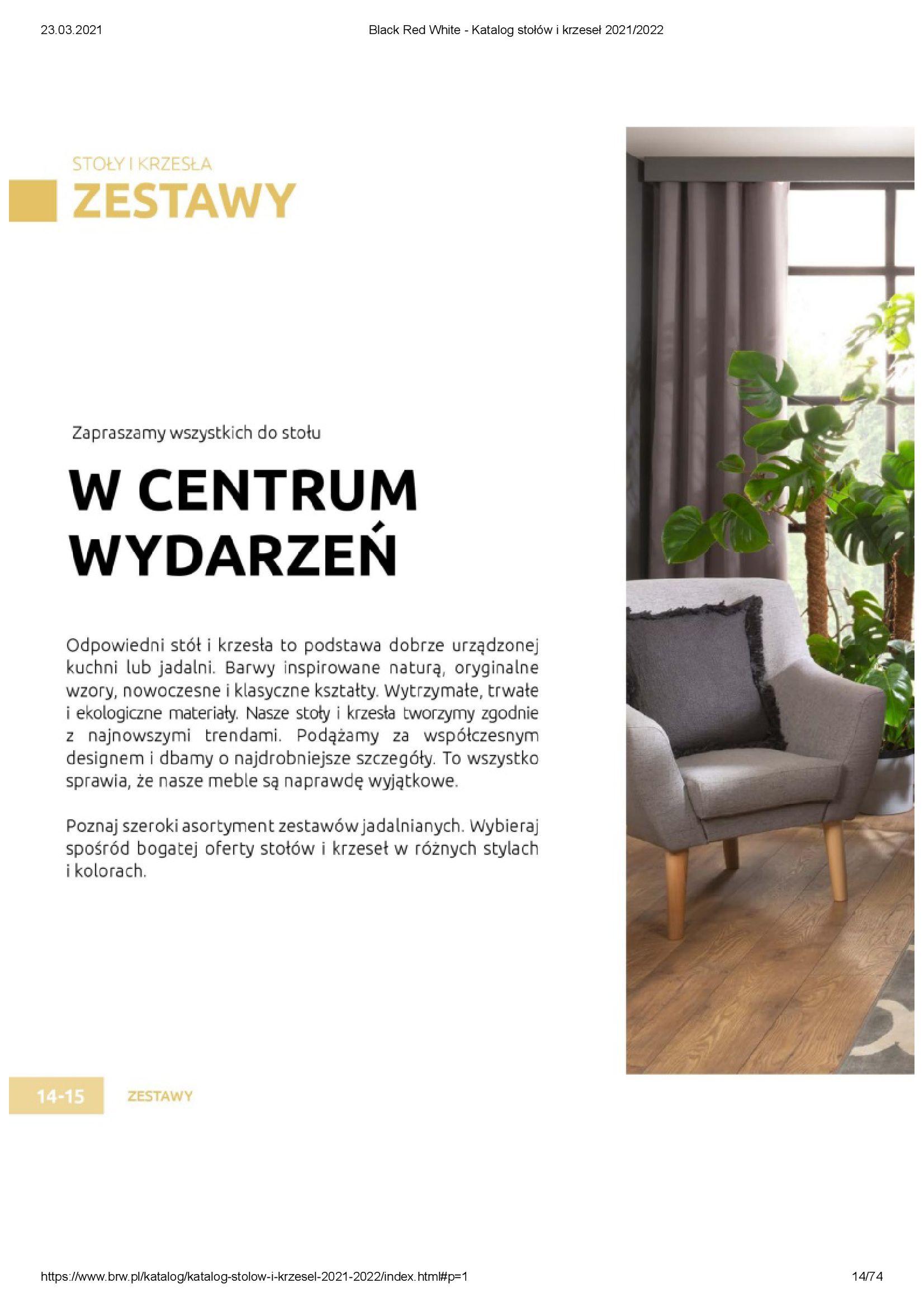 Gazetka Black Red White: Katalog stołów i krzeseł 2021-03-23 page-14