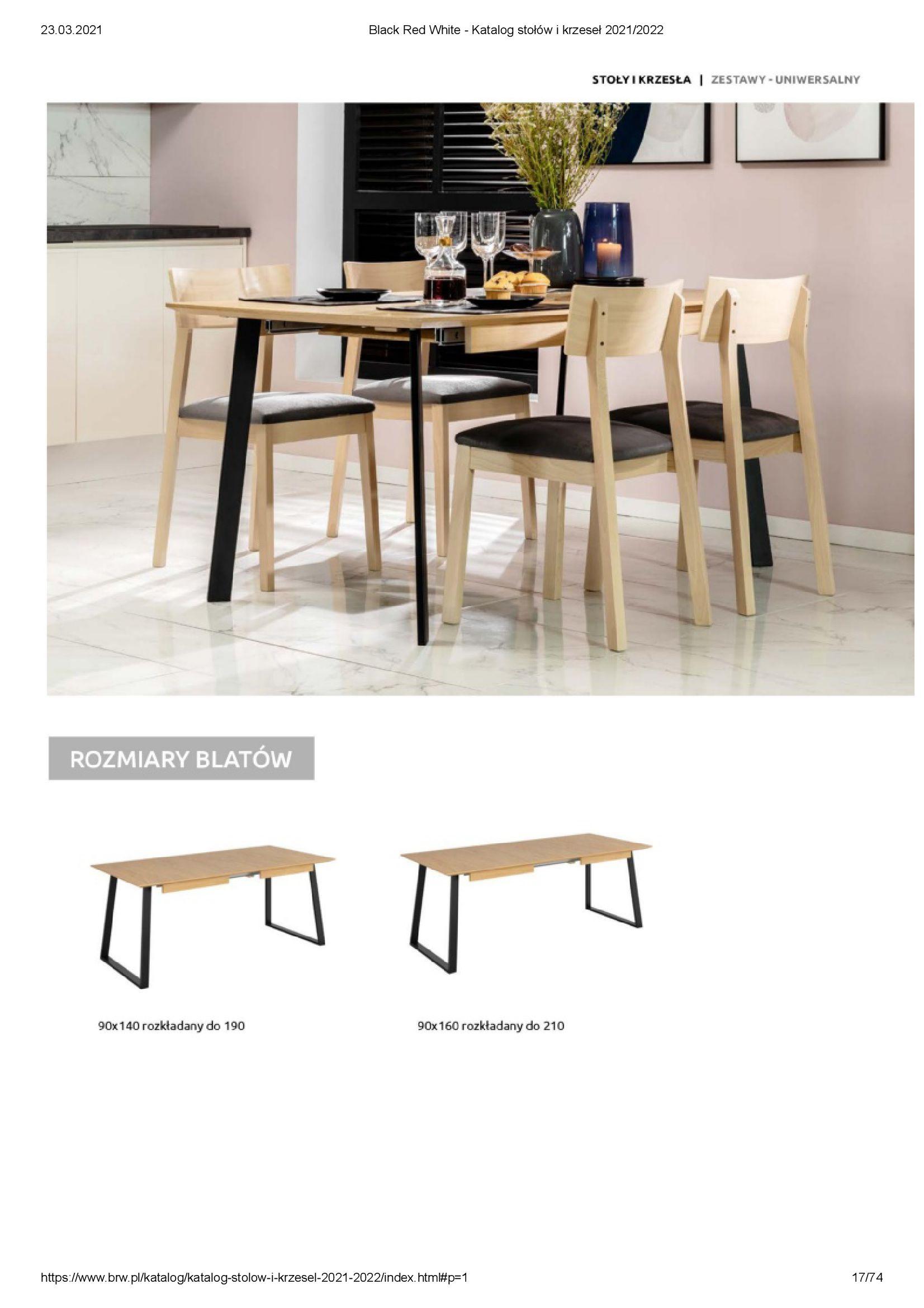 Gazetka Black Red White: Katalog stołów i krzeseł 2021-03-23 page-17