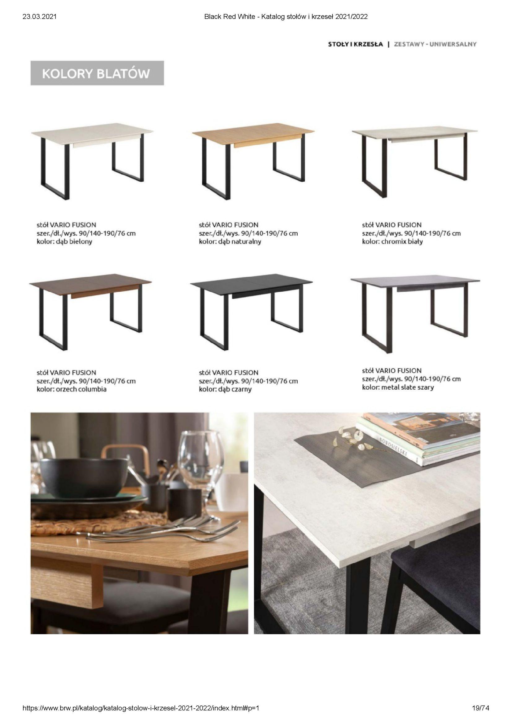 Gazetka Black Red White: Katalog stołów i krzeseł 2021-03-23 page-19