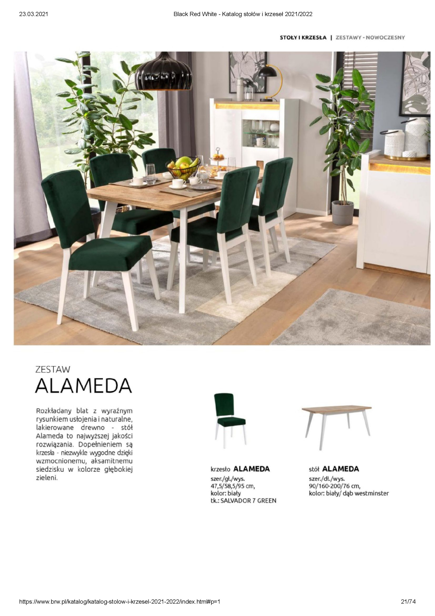 Gazetka Black Red White: Katalog stołów i krzeseł 2021-03-23 page-21