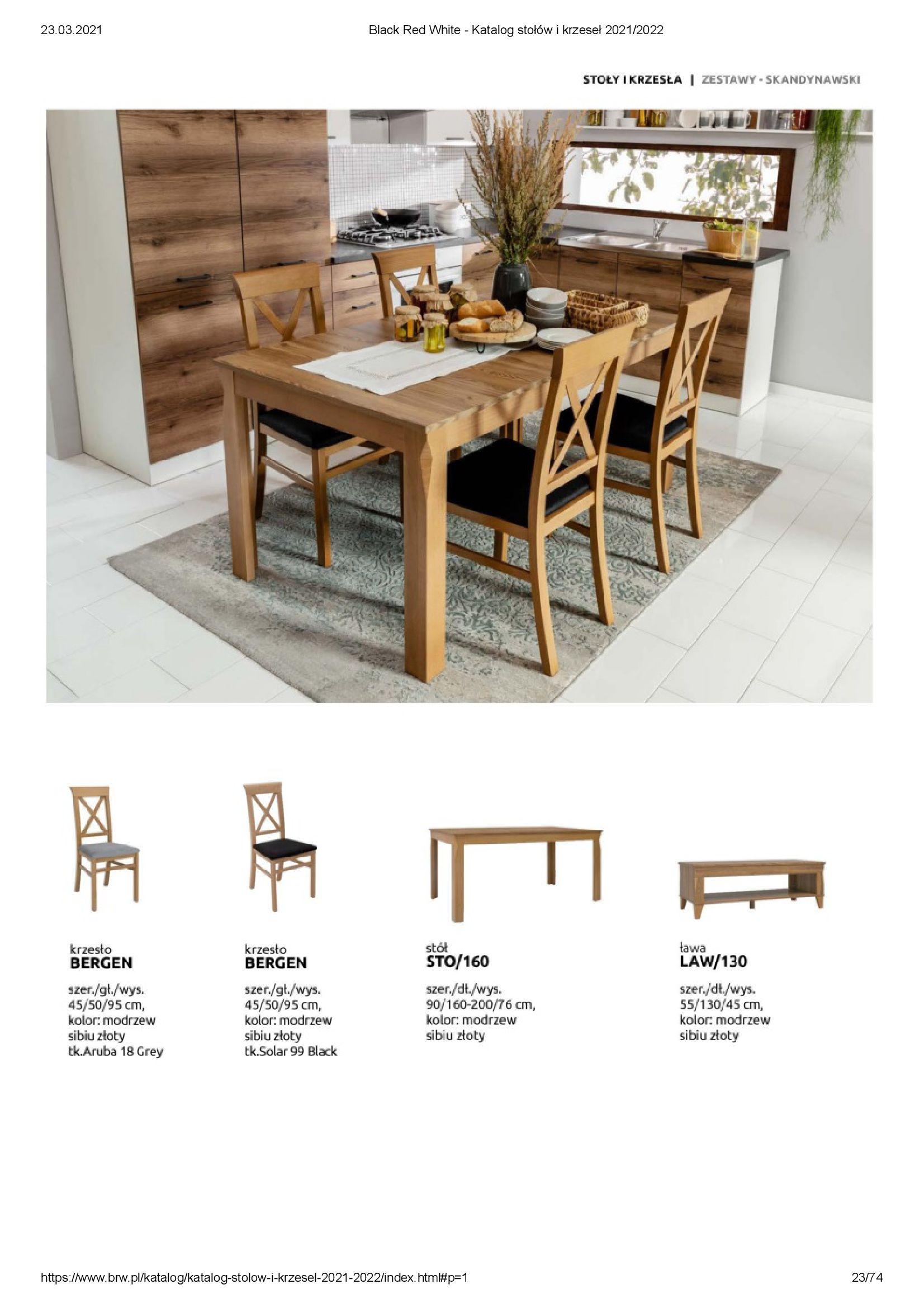 Gazetka Black Red White: Katalog stołów i krzeseł 2021-03-23 page-23