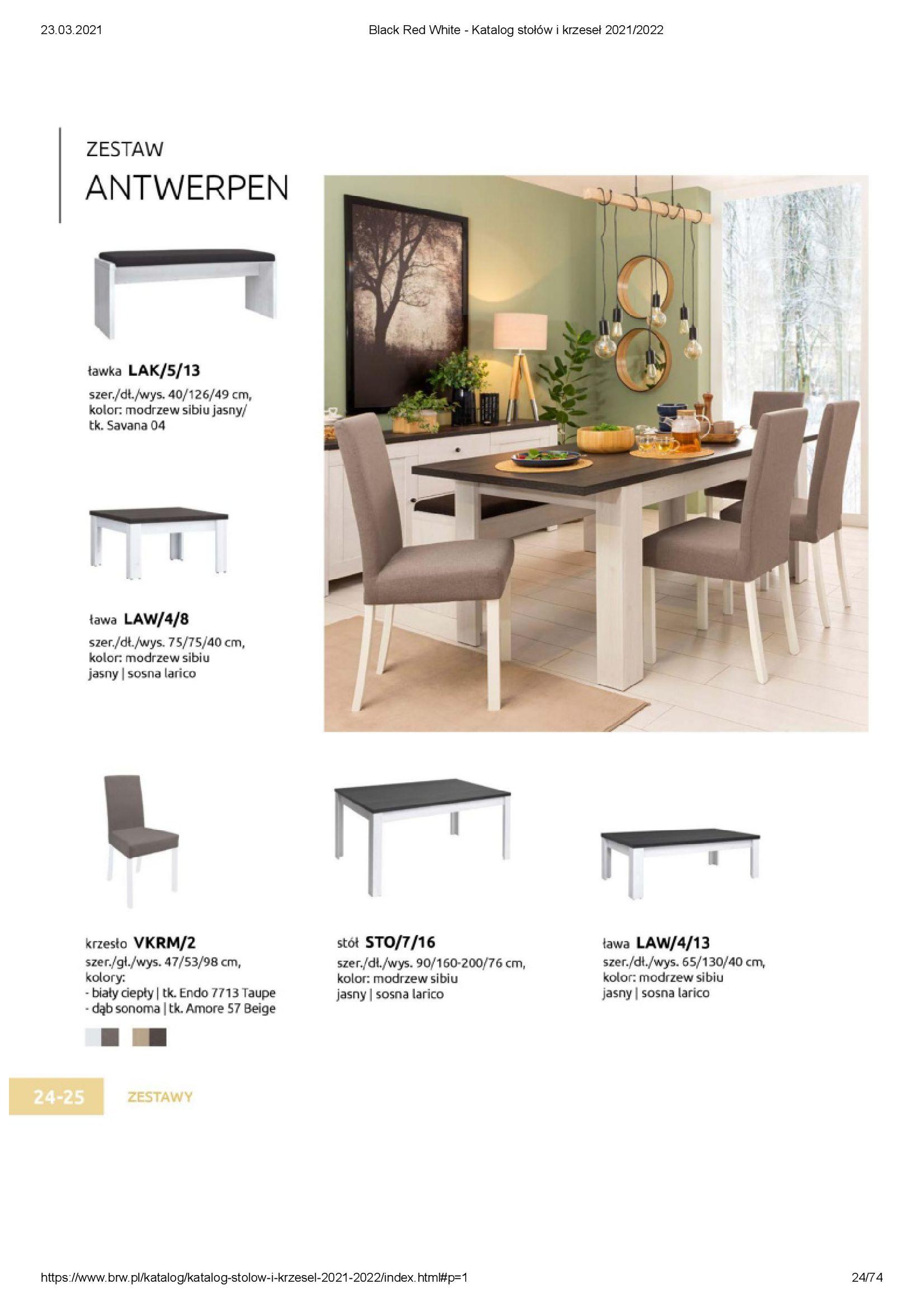 Gazetka Black Red White: Katalog stołów i krzeseł 2021-03-23 page-24