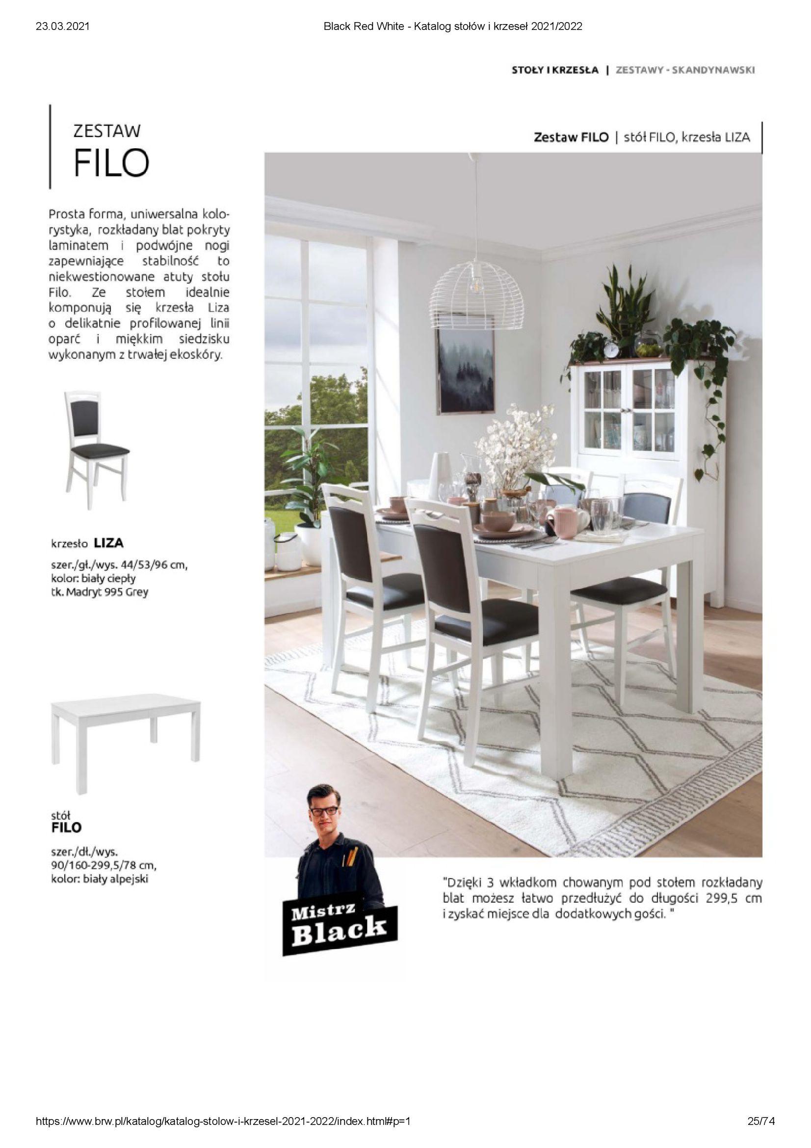 Gazetka Black Red White: Katalog stołów i krzeseł 2021-03-23 page-25