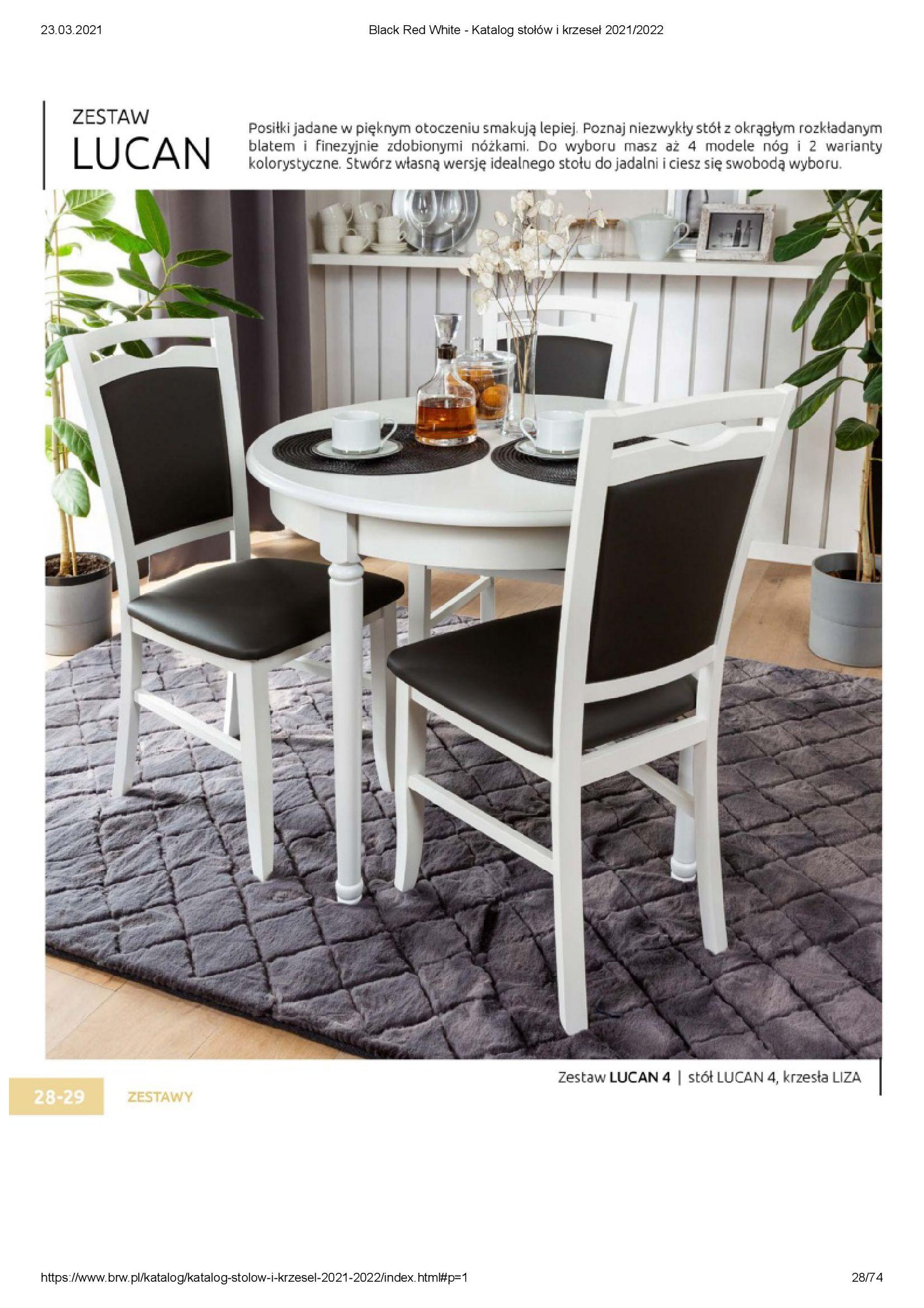 Gazetka Black Red White: Katalog stołów i krzeseł 2021-03-23 page-28