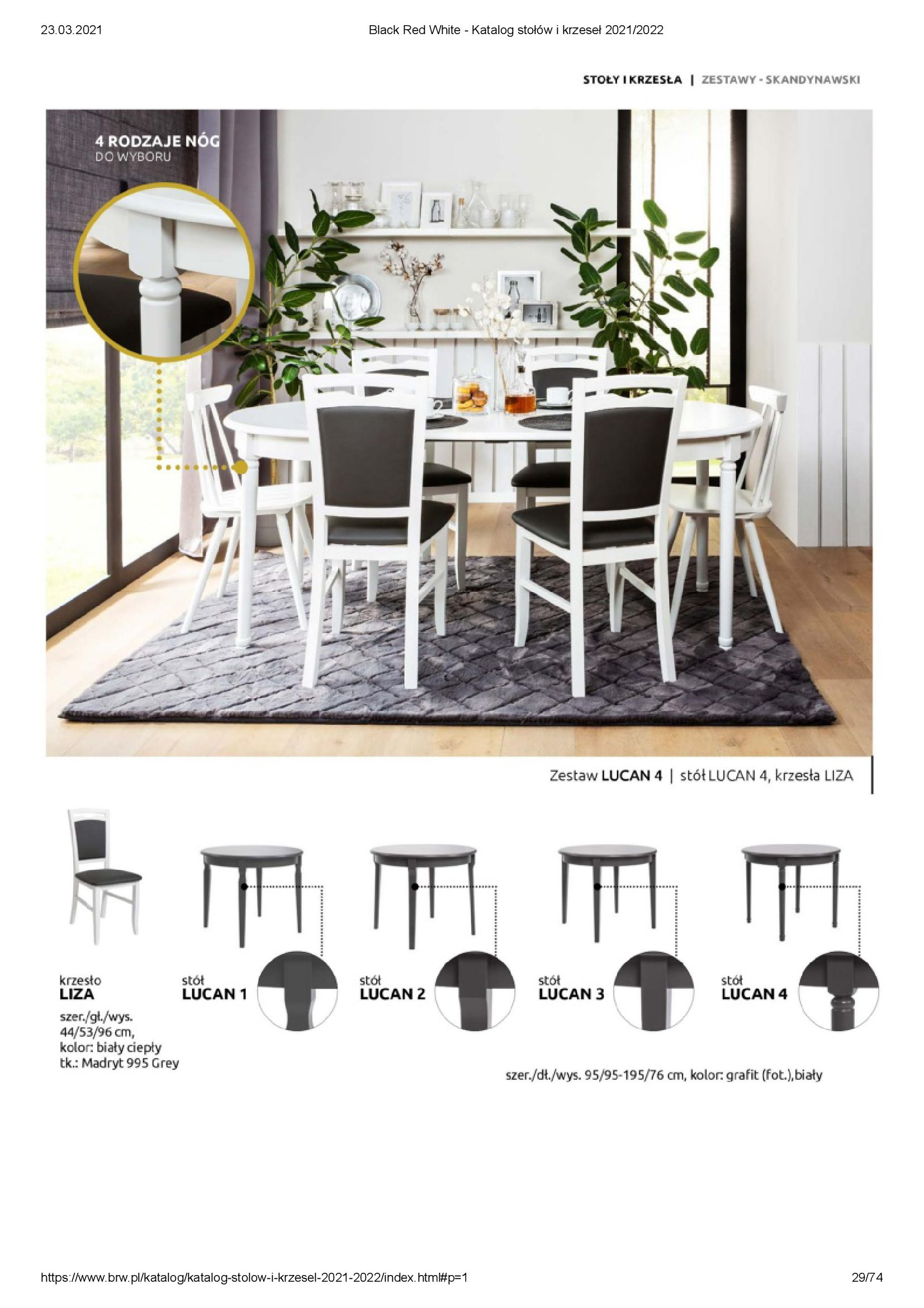 Gazetka Black Red White: Katalog stołów i krzeseł 2021-03-23 page-29