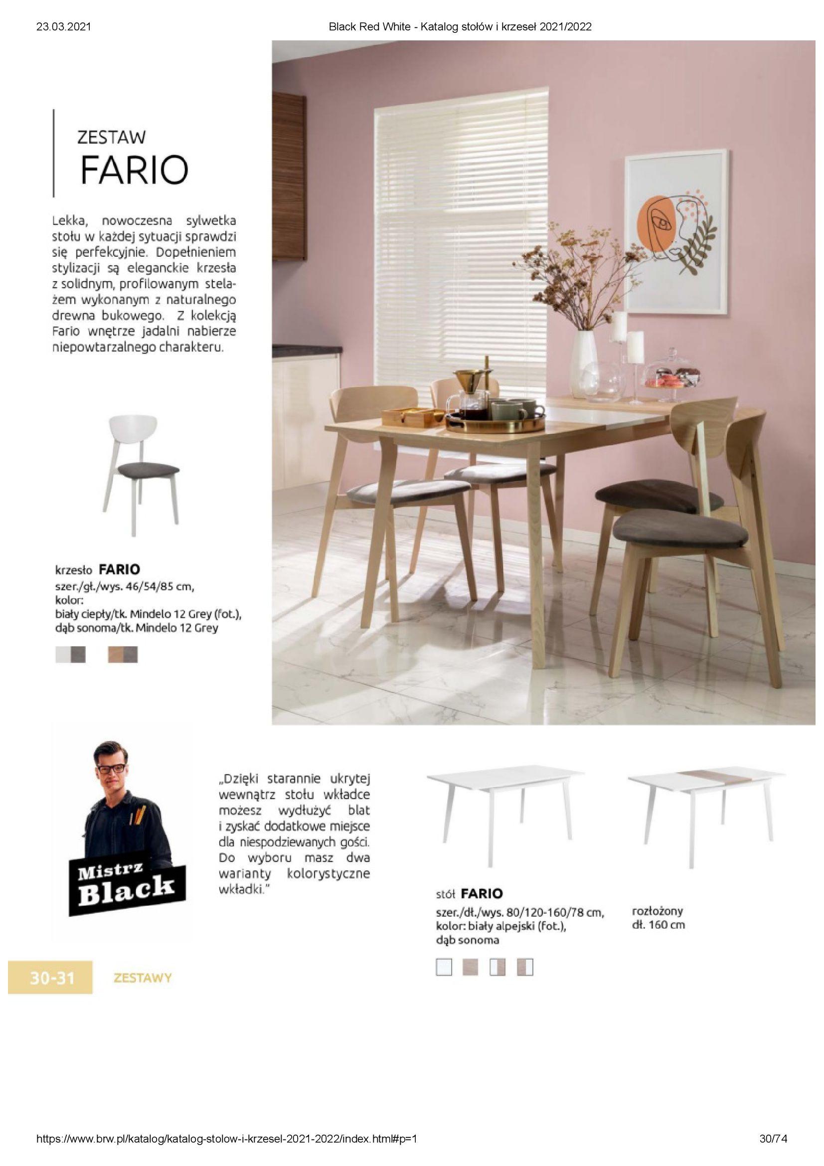 Gazetka Black Red White: Katalog stołów i krzeseł 2021-03-23 page-30
