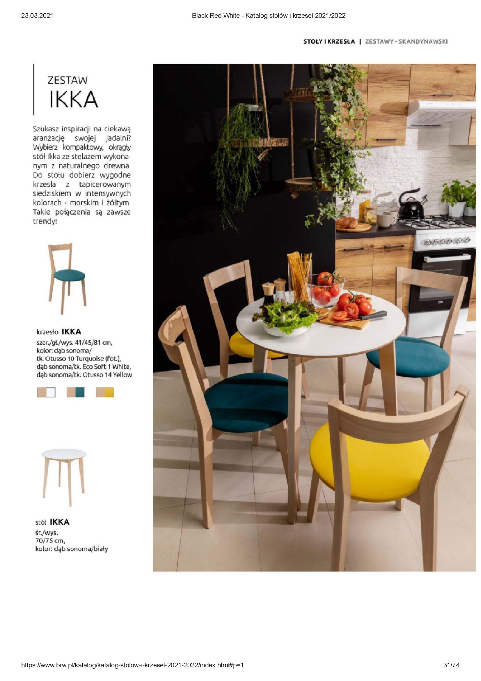 Gazetka Black Red White: Katalog stołów i krzeseł 2021-03-23 page-31