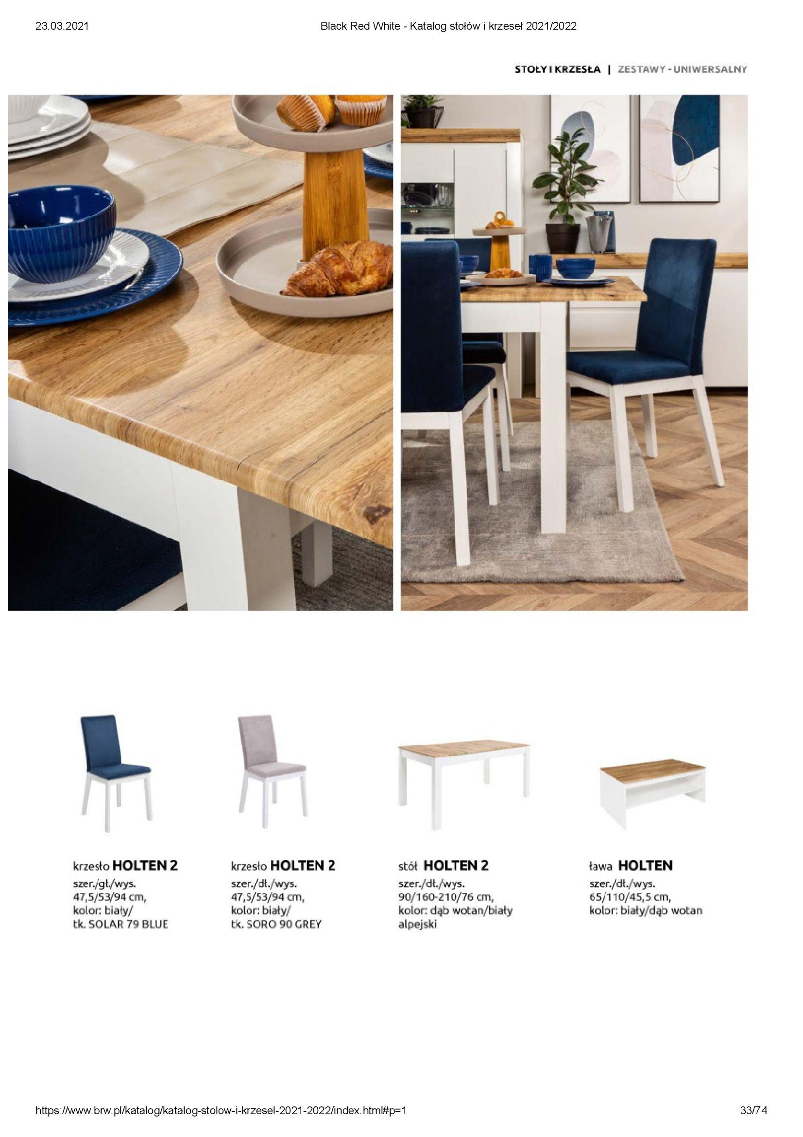Gazetka Black Red White: Katalog stołów i krzeseł 2021-03-23 page-33