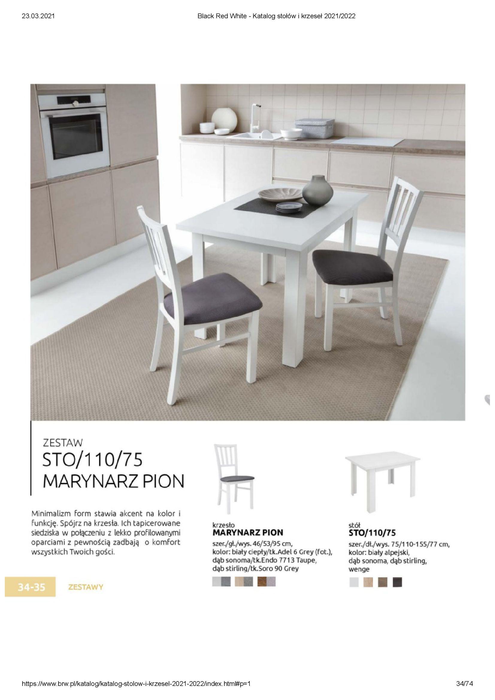 Gazetka Black Red White: Katalog stołów i krzeseł 2021-03-23 page-34