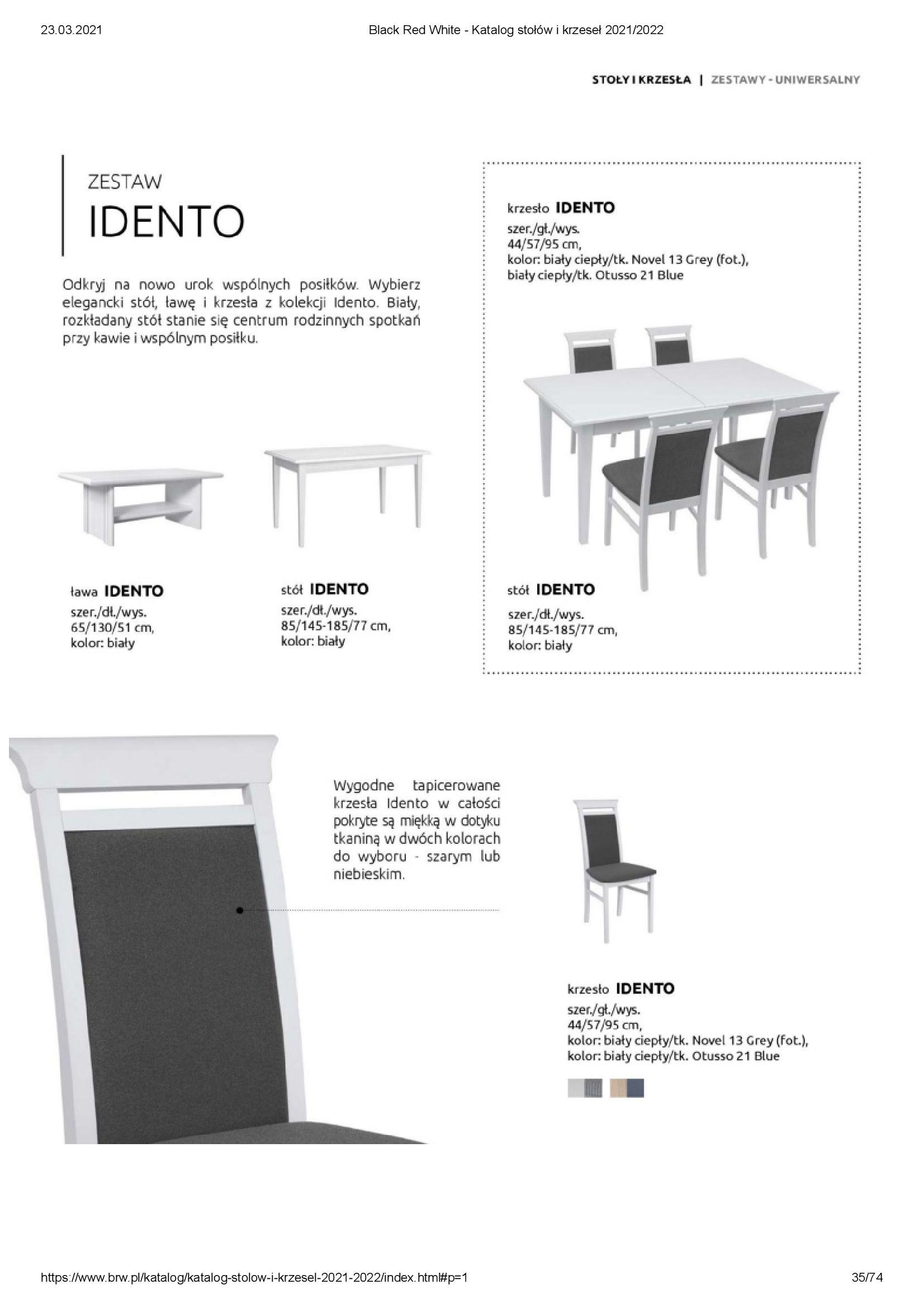 Gazetka Black Red White: Katalog stołów i krzeseł 2021-03-23 page-35