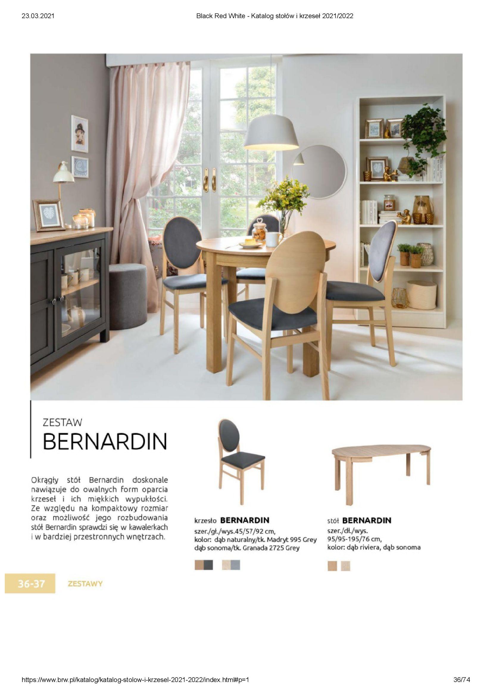 Gazetka Black Red White: Katalog stołów i krzeseł 2021-03-23 page-36
