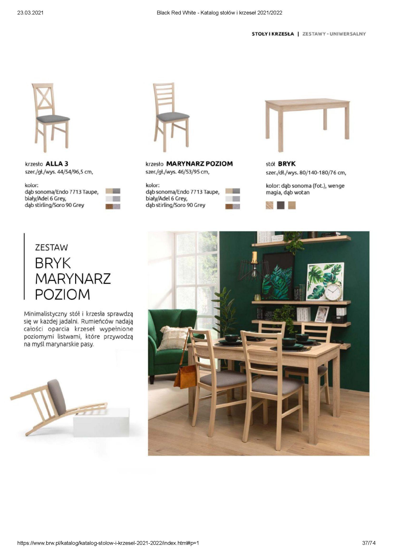 Gazetka Black Red White: Katalog stołów i krzeseł 2021-03-23 page-37