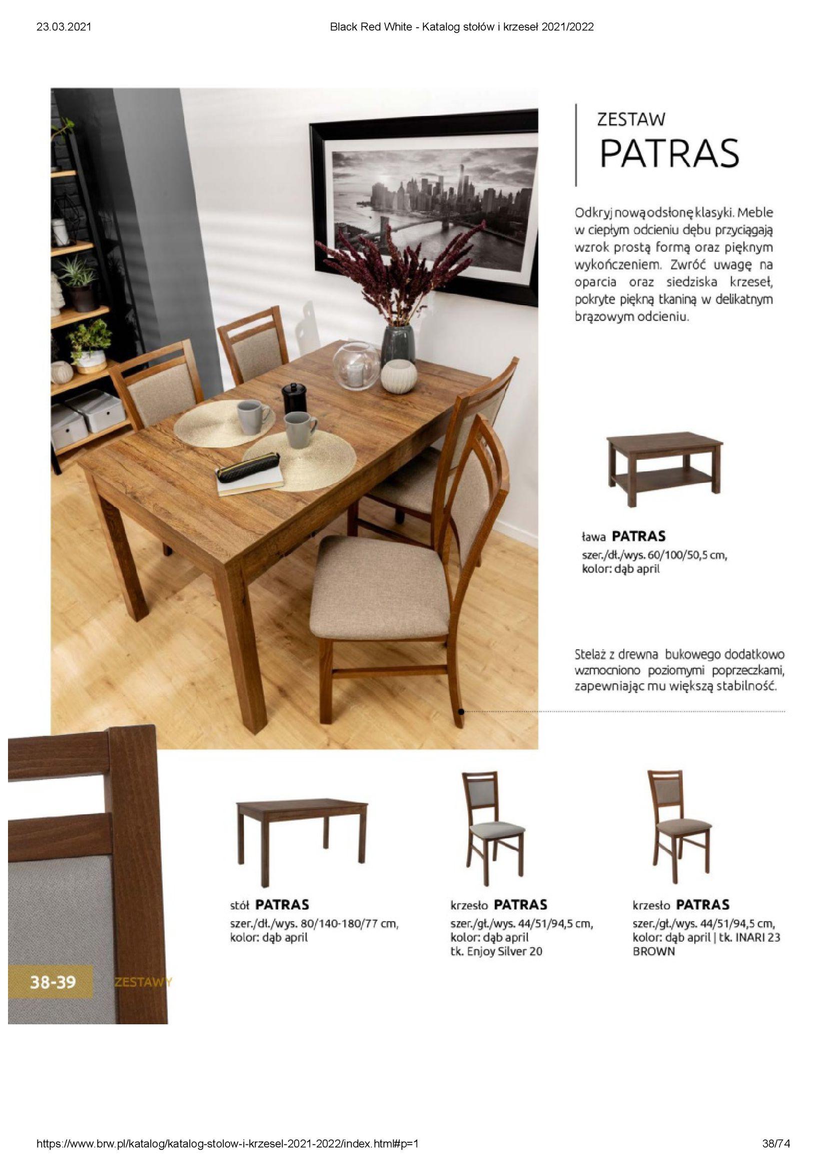 Gazetka Black Red White: Katalog stołów i krzeseł 2021-03-23 page-38
