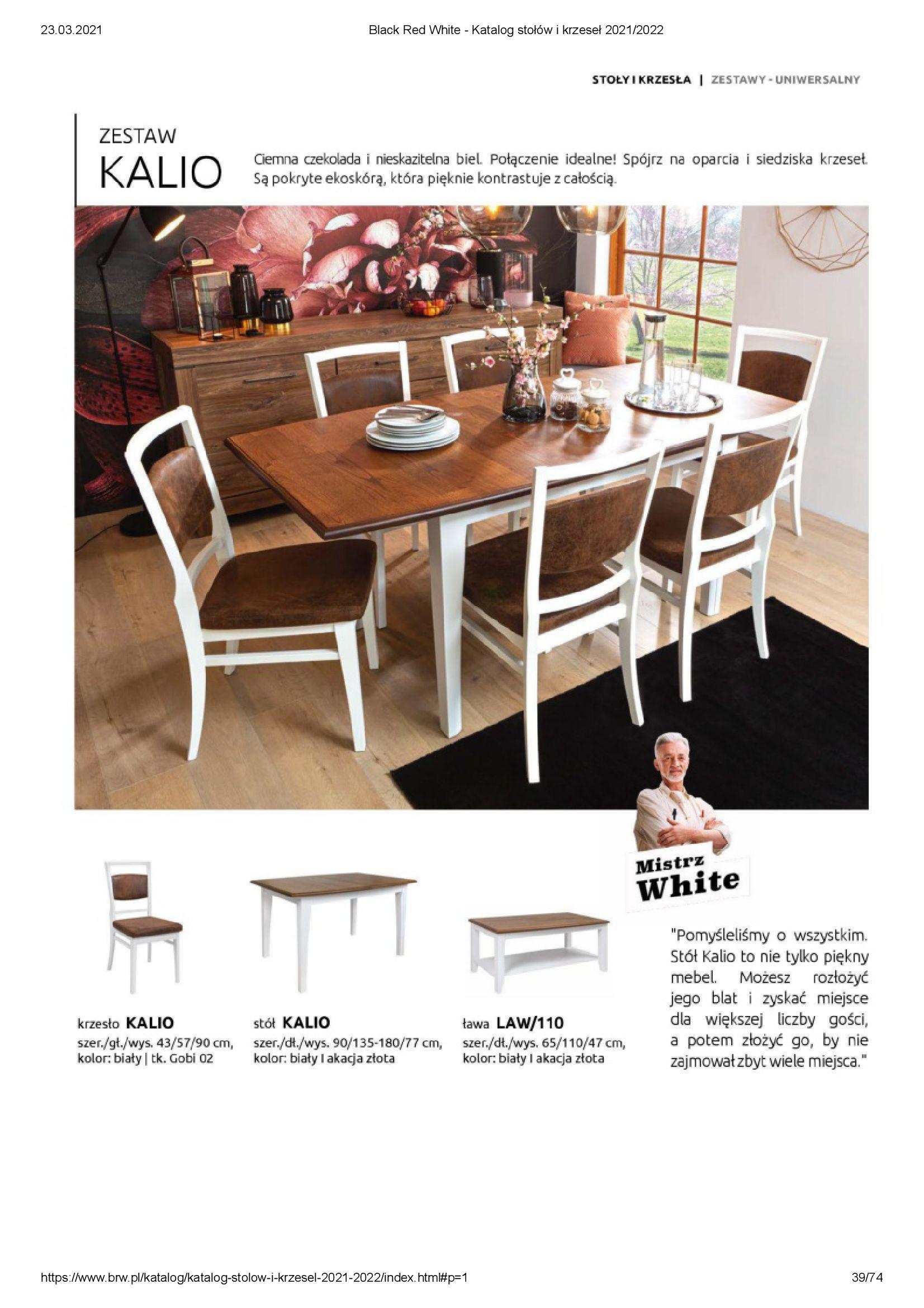 Gazetka Black Red White: Katalog stołów i krzeseł 2021-03-23 page-39