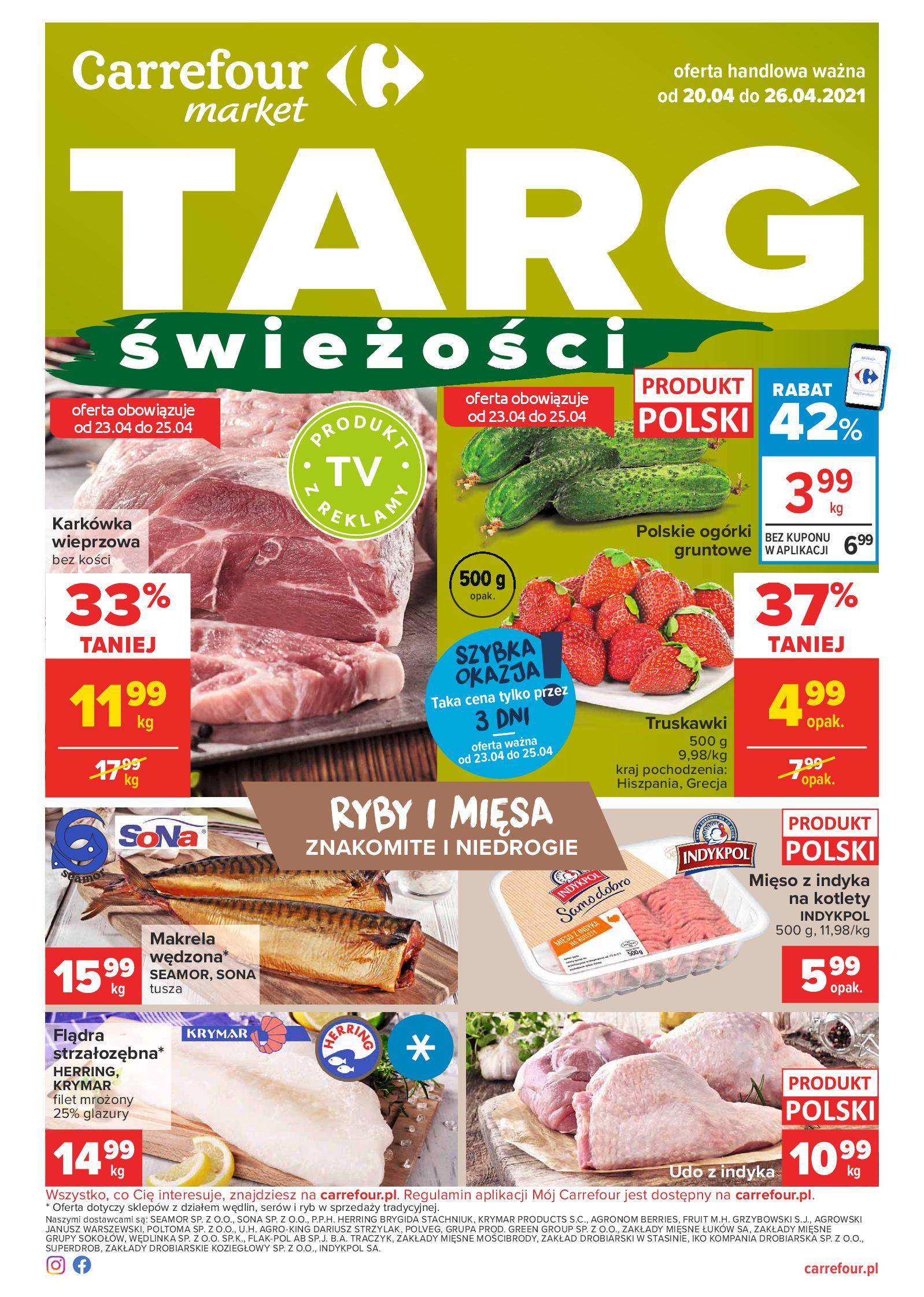 Carrefour Market:  Carrefour Market - Targ Świeżości 19.04.2021