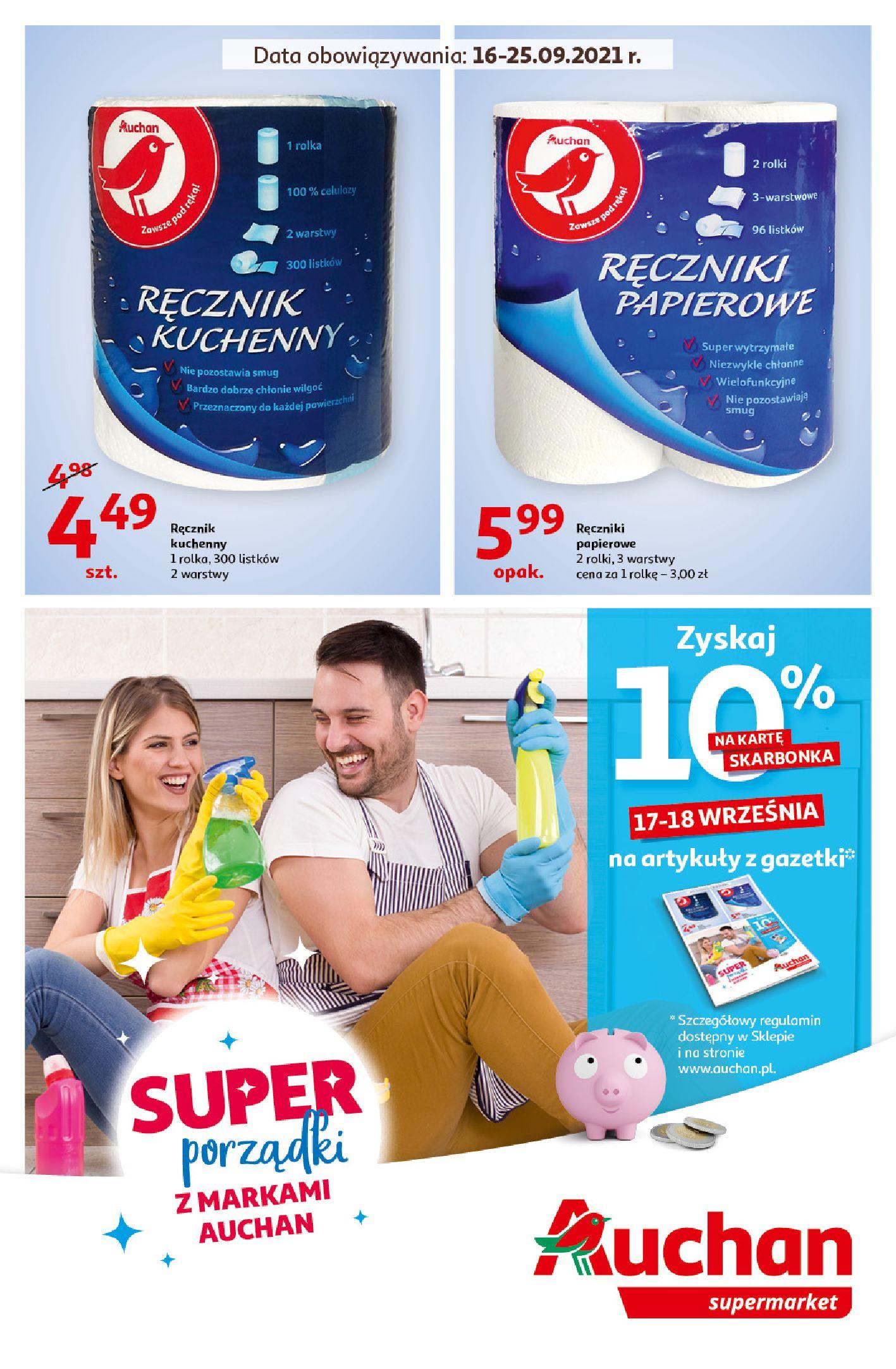 Auchan:  Gazetka Auchan - Porządki Supermarkety 15.09.2021