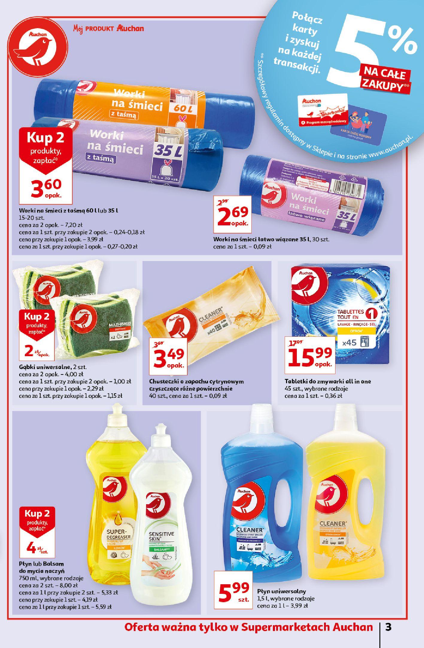 Gazetka Auchan: Gazetka Auchan - Porządki Supermarkety 2021-09-16 page-3