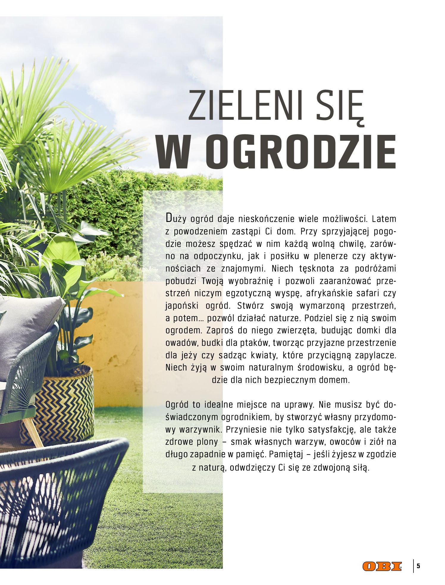 Gazetka OBI: Katalog OBI - Ogród, balkon, taras 2021-05-14 page-5
