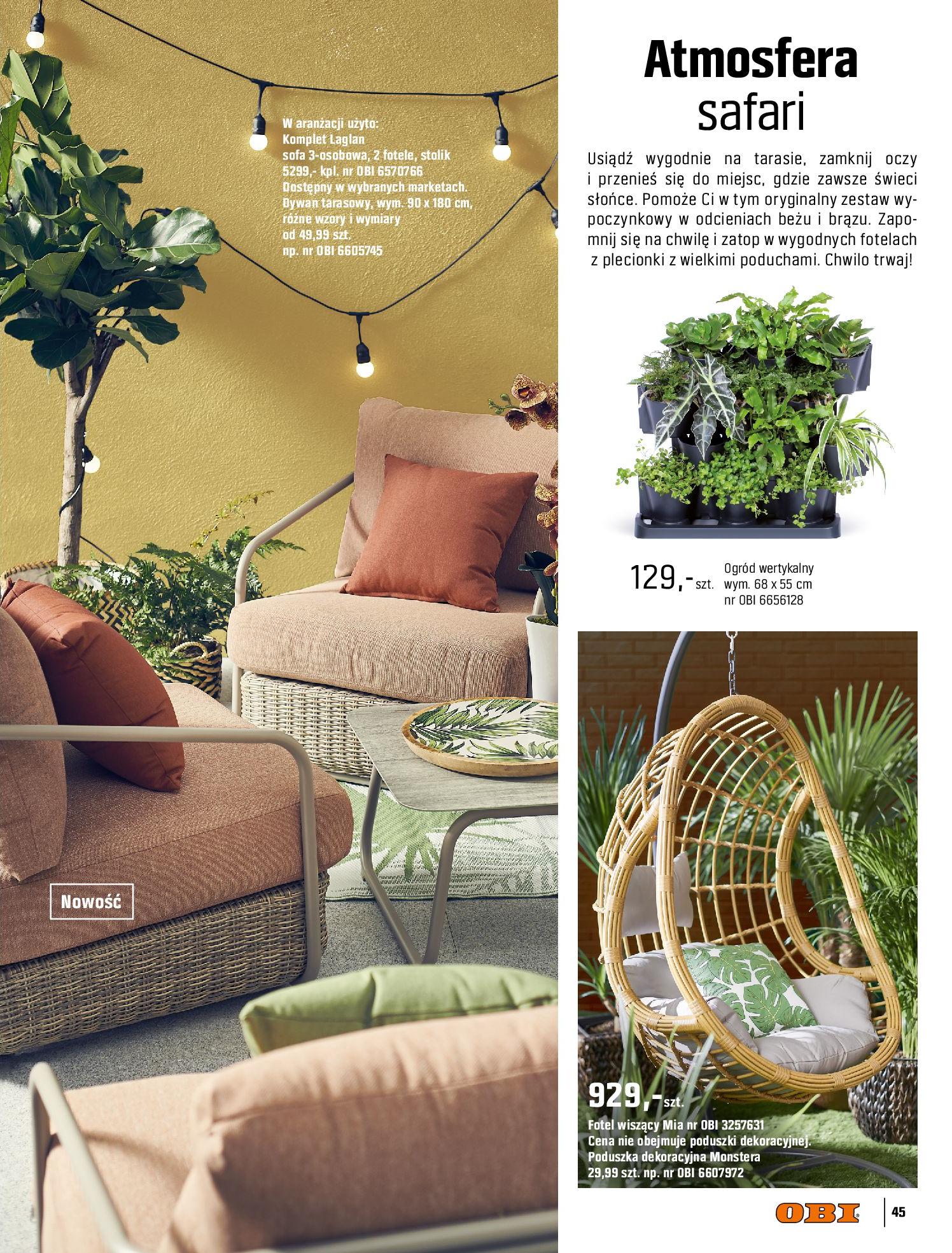 Gazetka OBI: Katalog OBI - Ogród, balkon, taras 2021-05-14 page-45