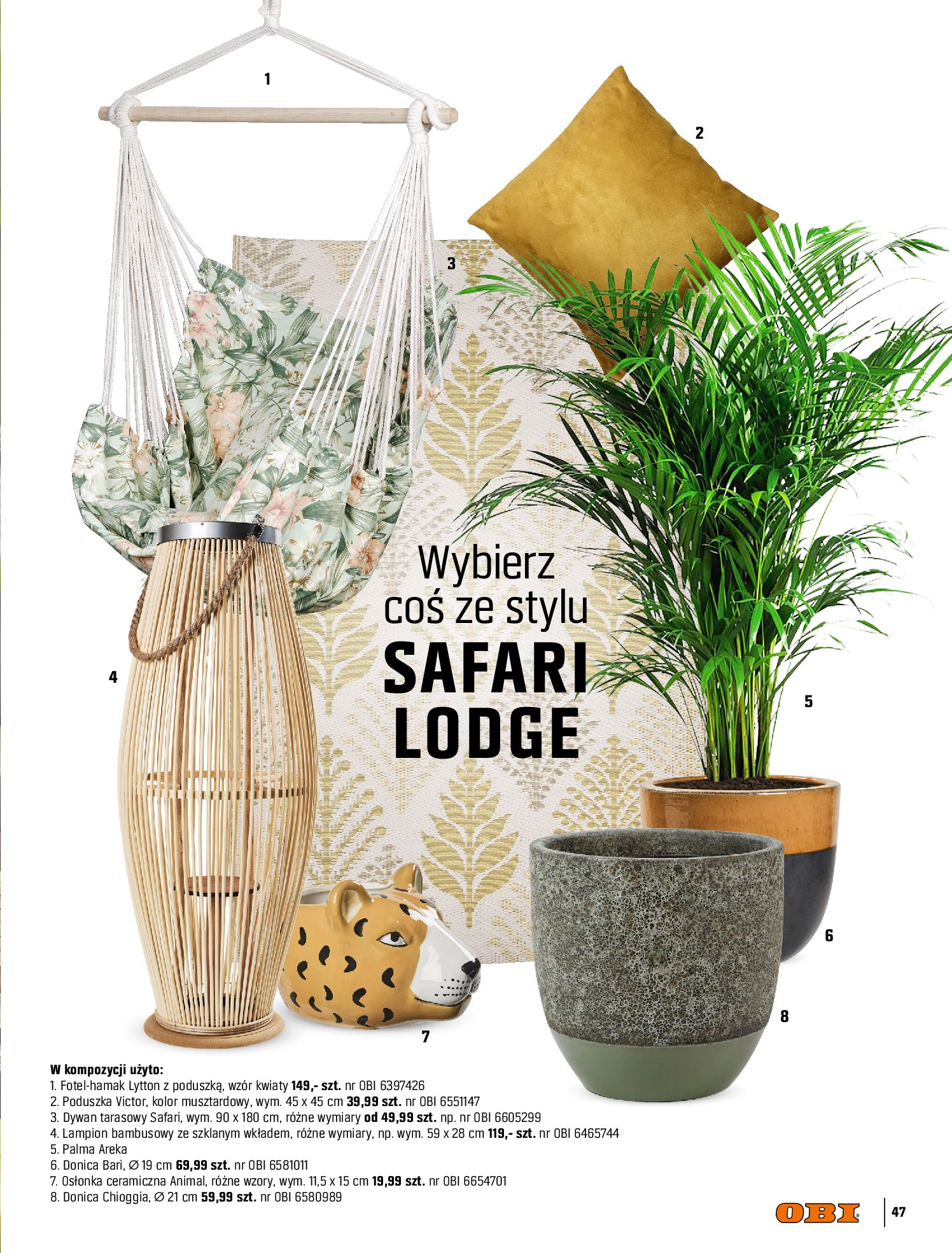 Gazetka OBI: Katalog OBI - Ogród, balkon, taras 2021-05-14 page-47