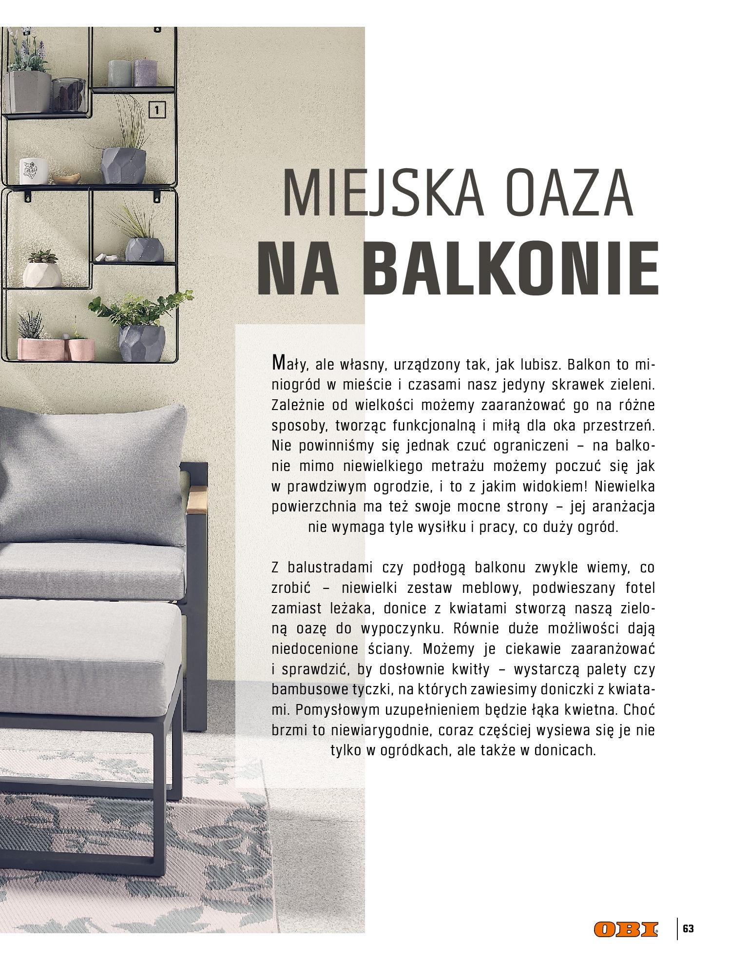 Gazetka OBI: Katalog OBI - Ogród, balkon, taras 2021-05-14 page-63