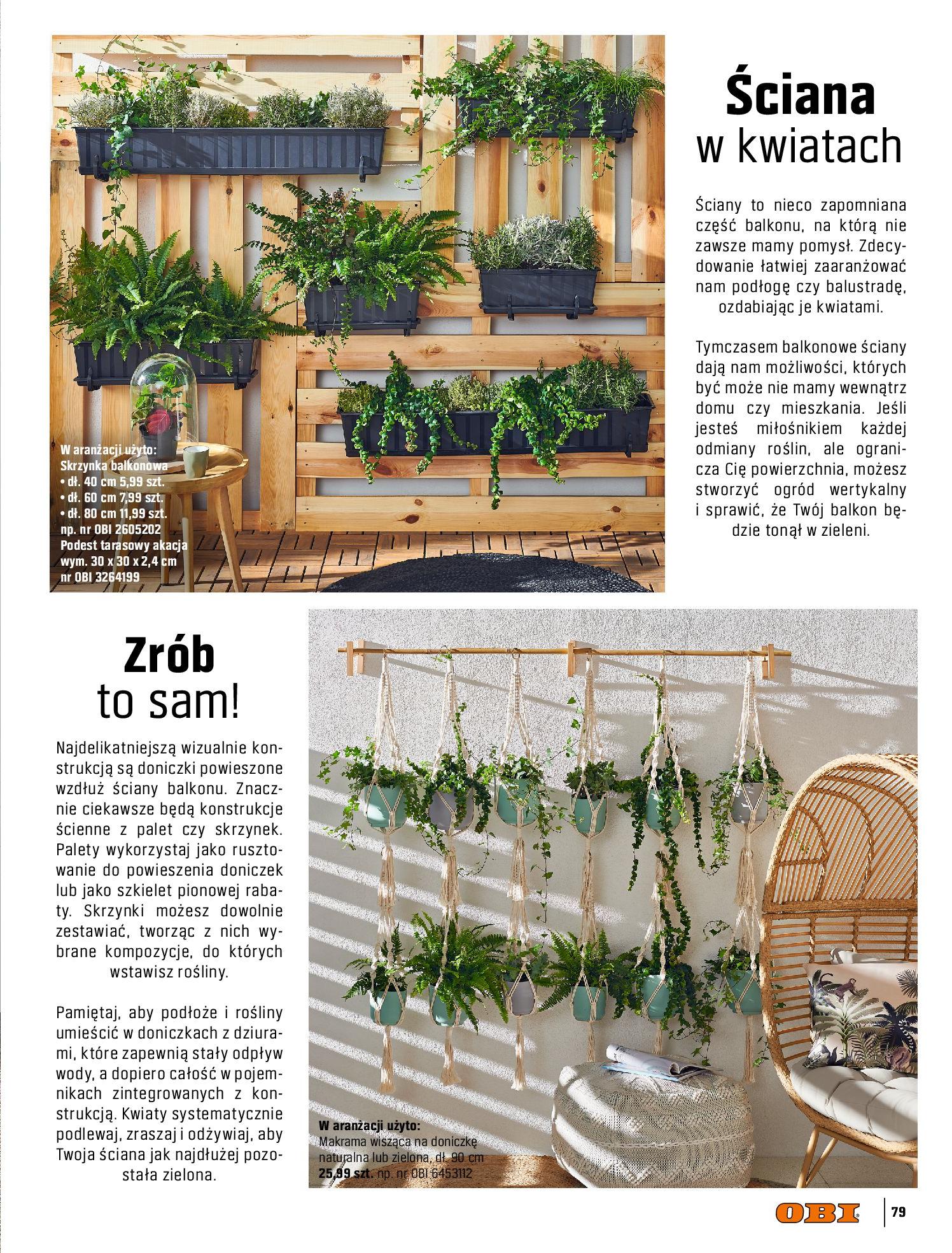 Gazetka OBI: Katalog OBI - Ogród, balkon, taras 2021-05-14 page-79