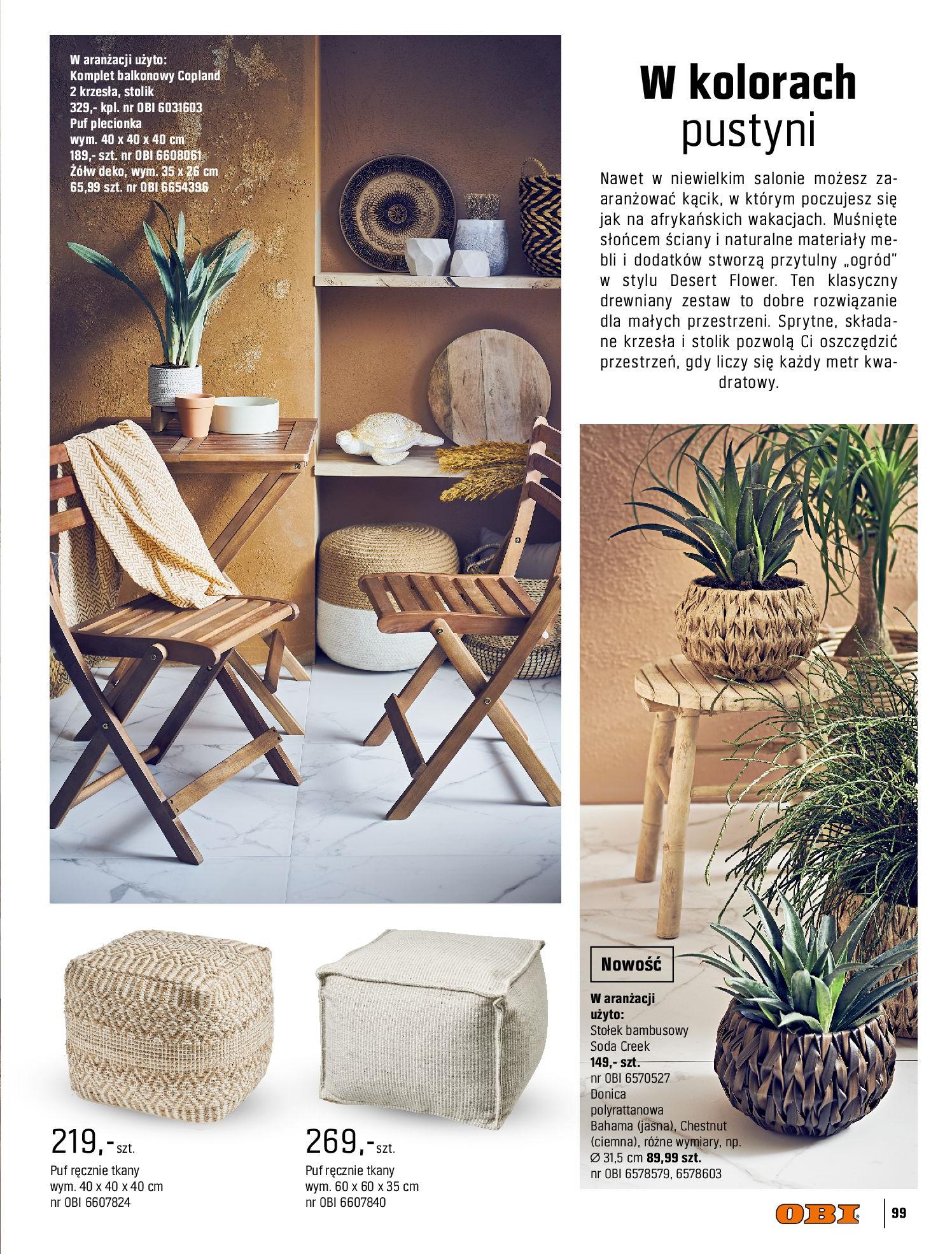 Gazetka OBI: Katalog OBI - Ogród, balkon, taras 2021-05-14 page-99