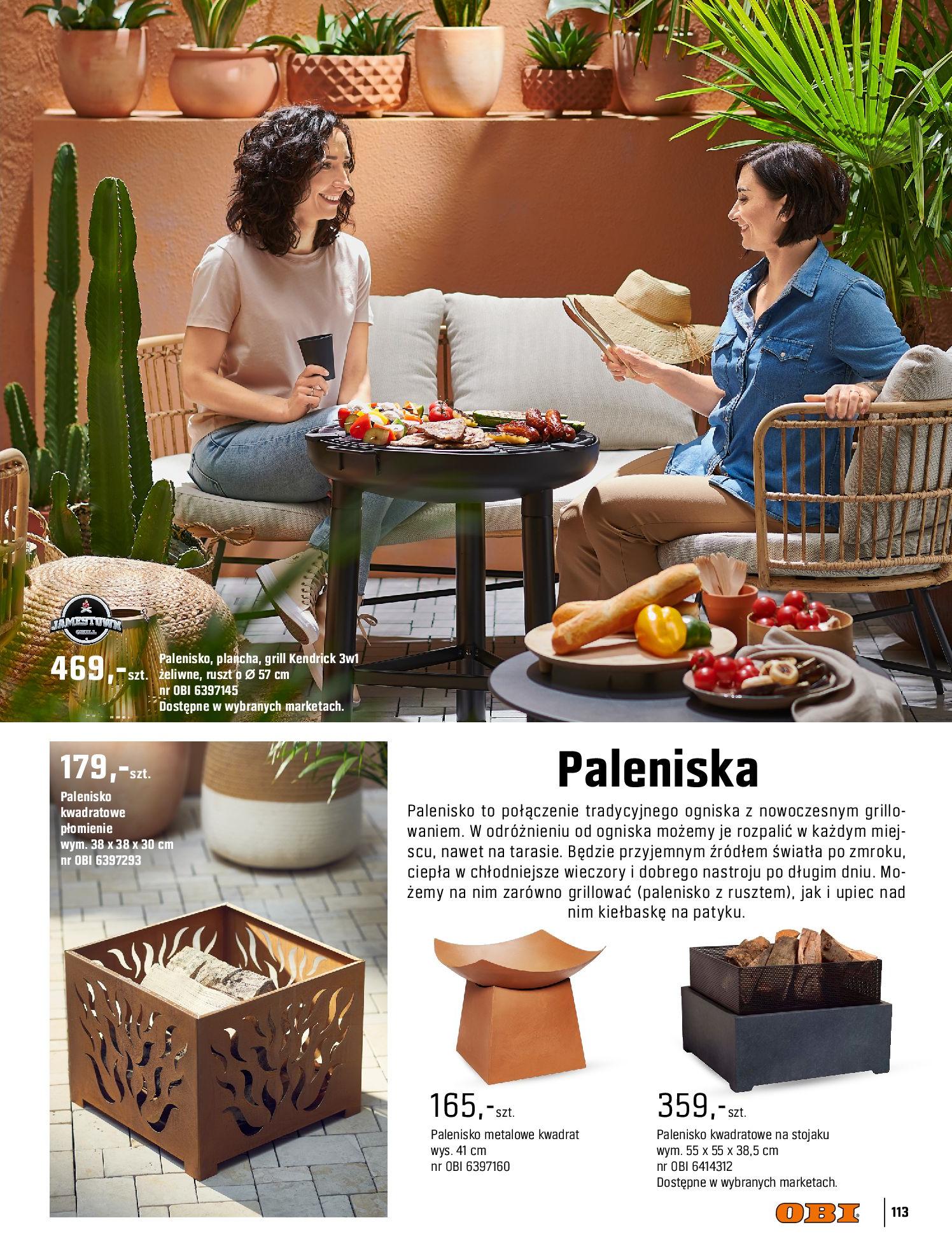 Gazetka OBI: Katalog OBI - Ogród, balkon, taras 2021-05-14 page-113