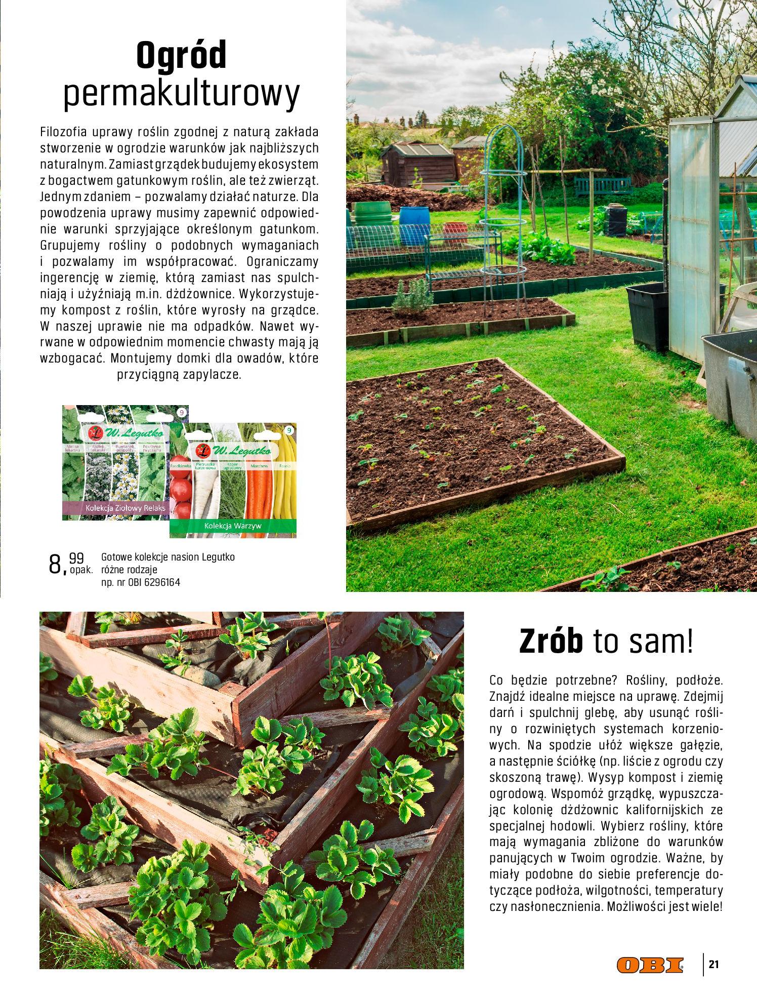 Gazetka OBI: Katalog OBI - Ogród, balkon, taras 2021-05-14 page-21