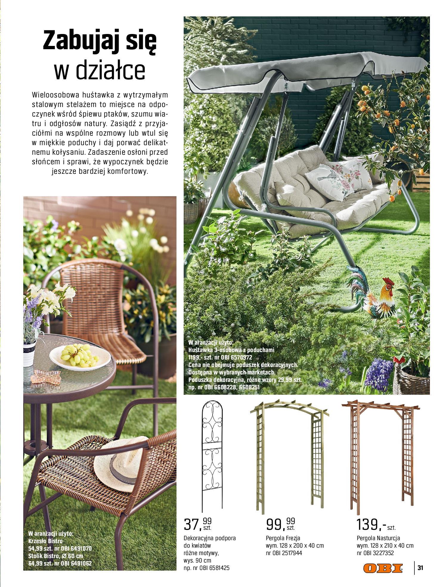 Gazetka OBI: Katalog OBI - Ogród, balkon, taras 2021-05-14 page-31