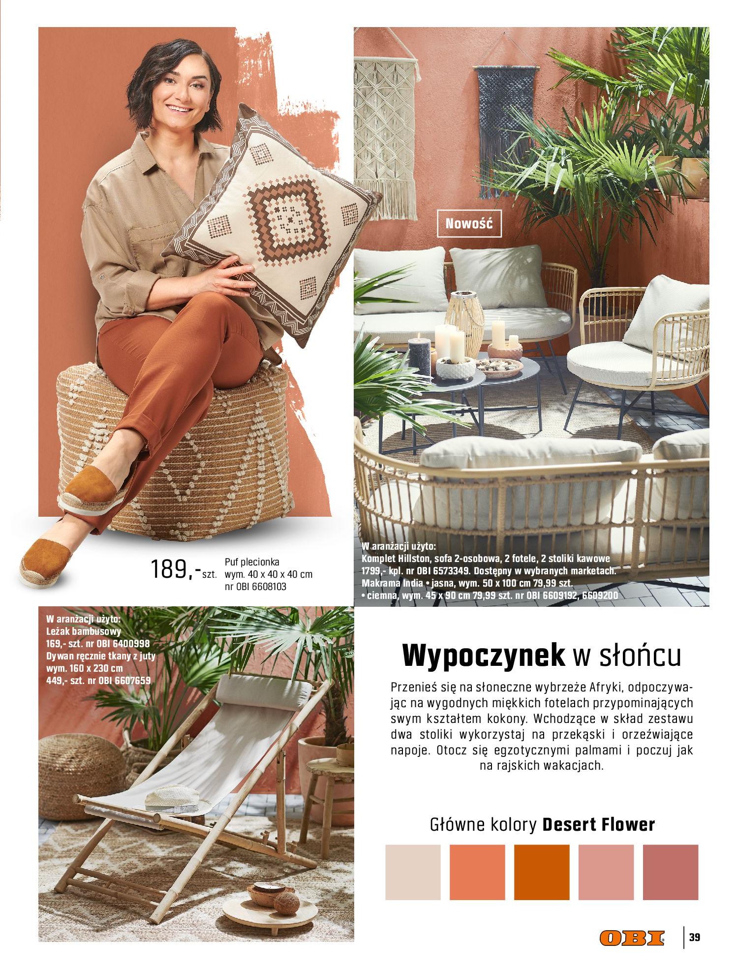Gazetka OBI: Katalog OBI - Ogród, balkon, taras 2021-05-14 page-39