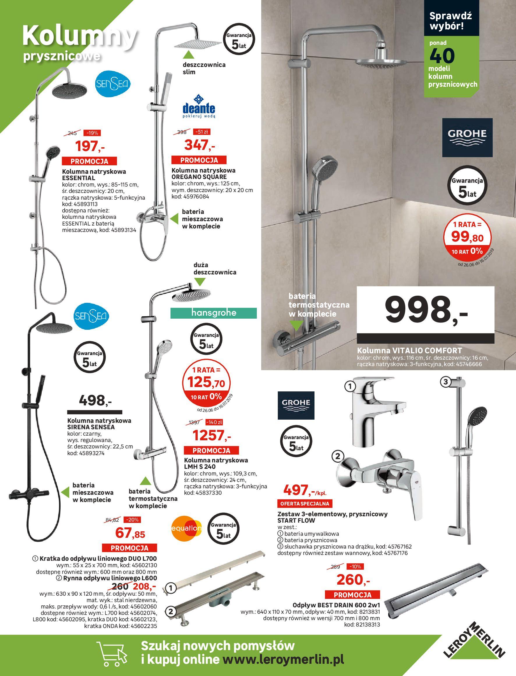 Gazetka Leroy Merlin - Projekt łazienka, kuchnia-25.06.2019-16.07.2019-page-