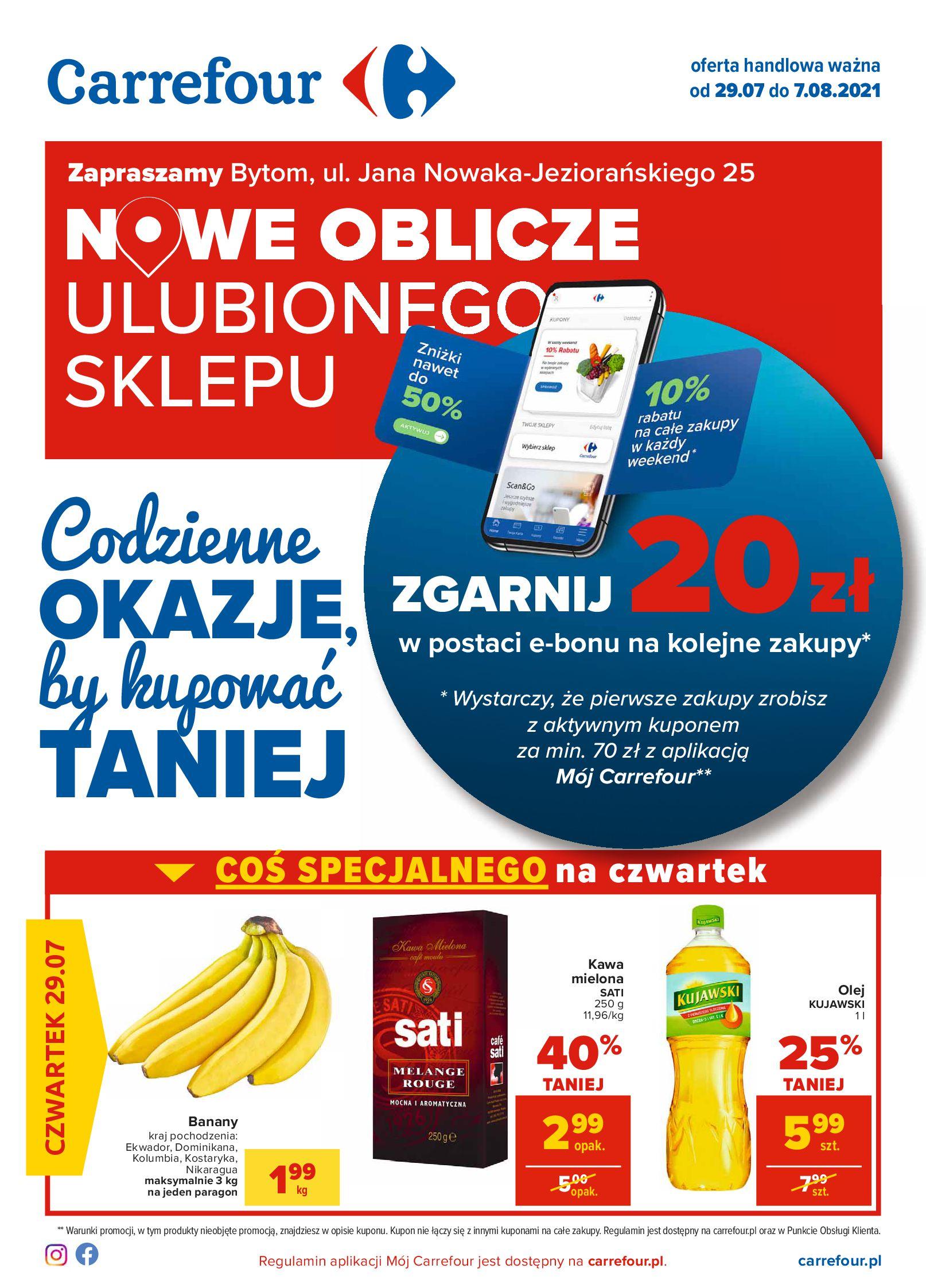 Carrefour:  Gazetka Carrefour - Codzienne okazje 28.07.2021