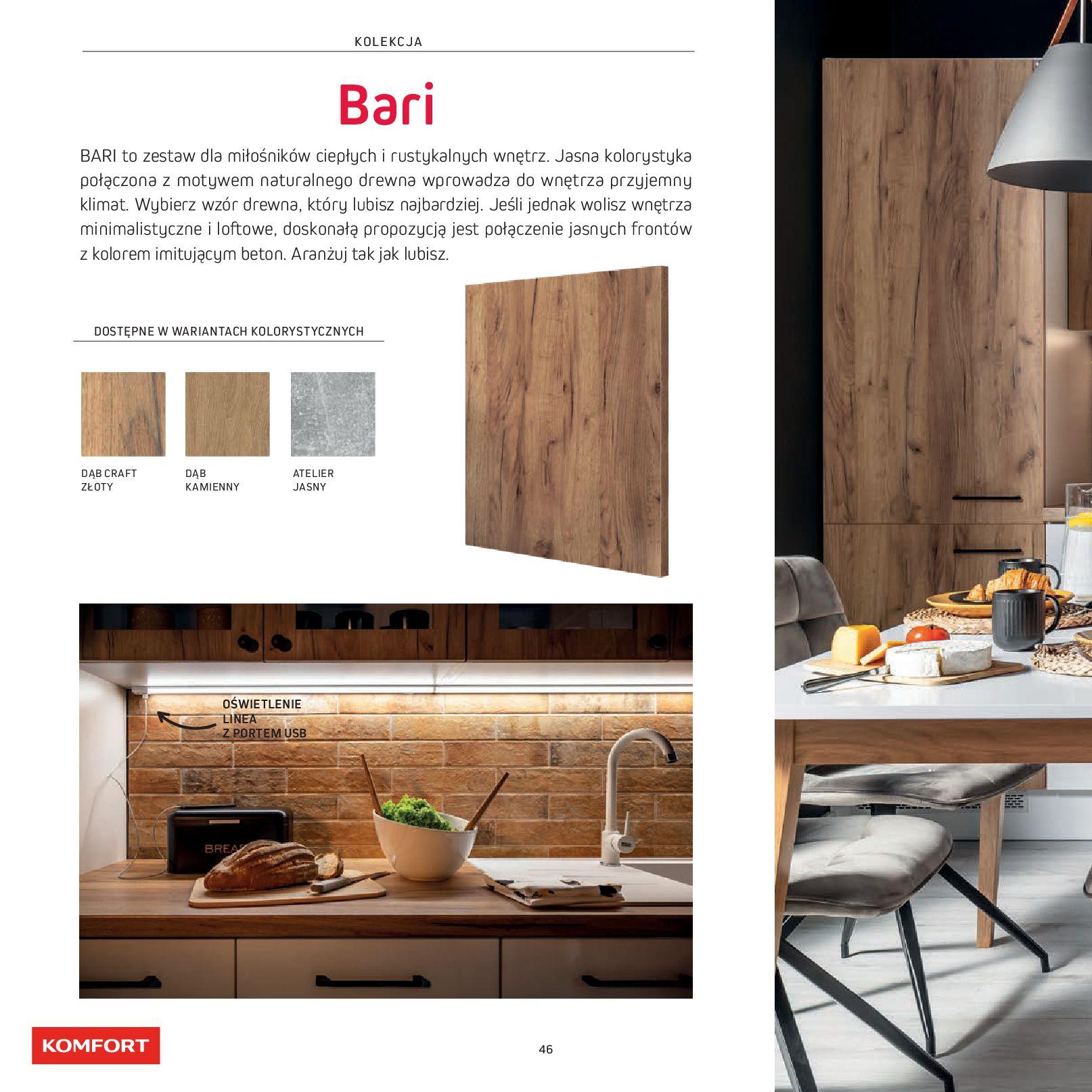 Gazetka Komfort: Gazetka Komfort - Katalog Kuchnie 2021 2021-06-16 page-48
