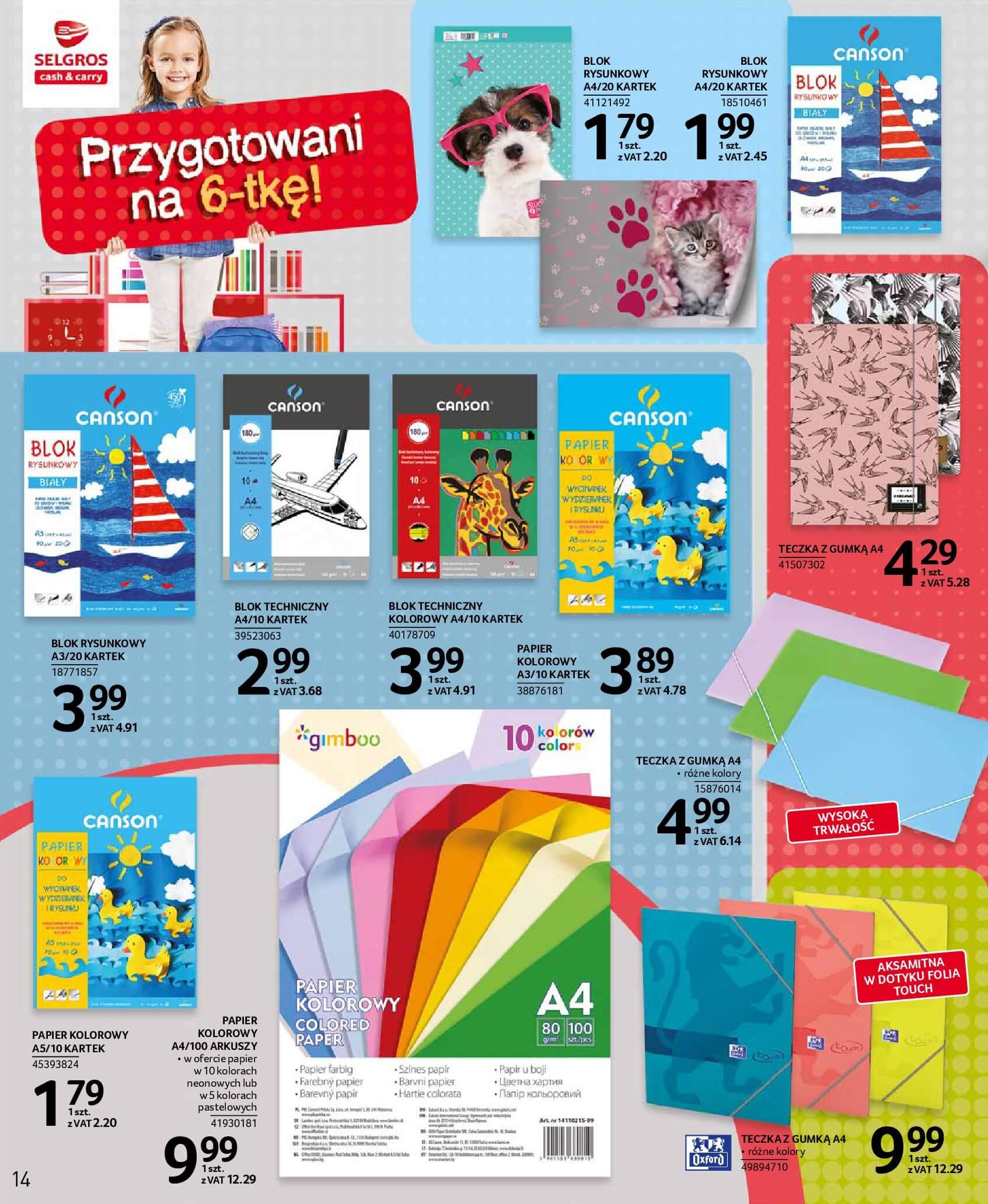 Gazetka Selgros - Przygotowani na 6-tkę!-01.08.2018-14.08.2018-page-