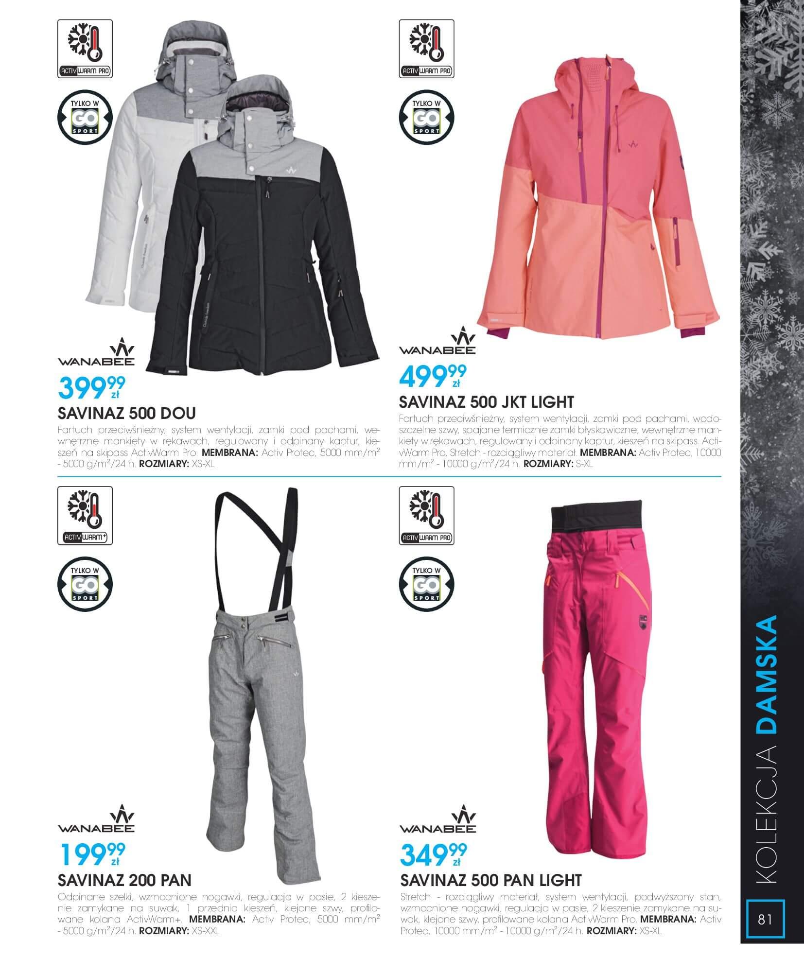 Gazetka Go Sport - Katalog Zima 2017/2018-12.11.2017-28.02.2018-page-81
