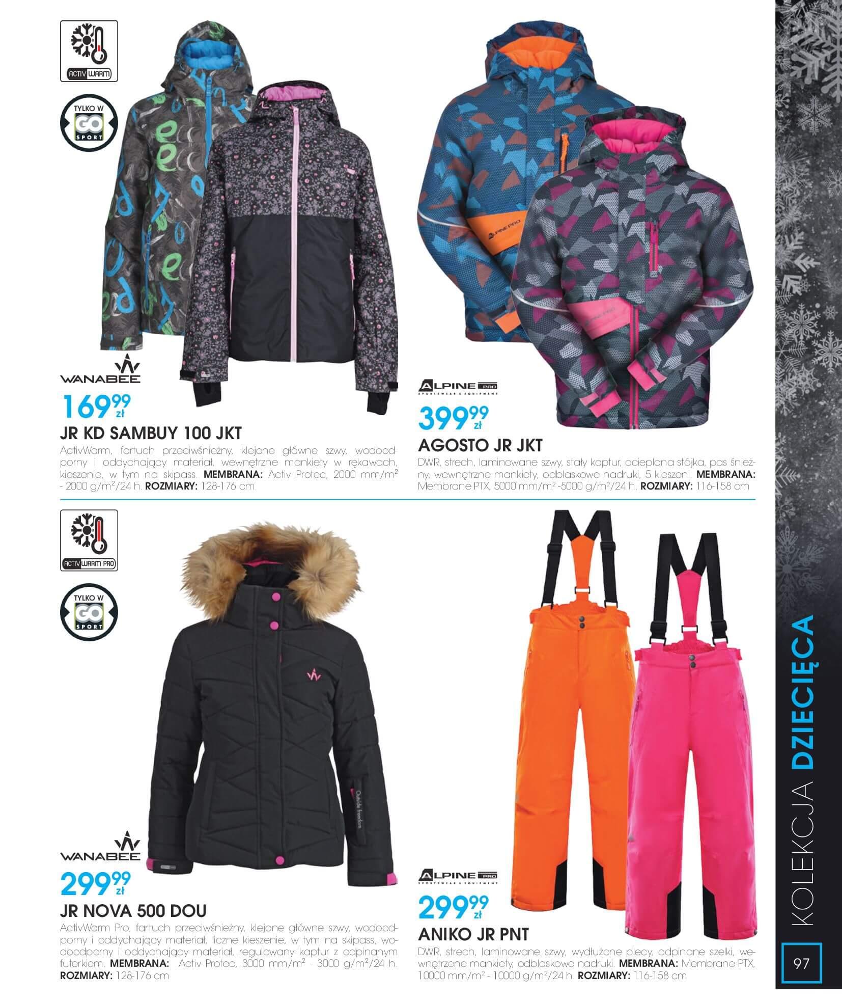 Gazetka Go Sport - Katalog Zima 2017/2018-12.11.2017-28.02.2018-page-97