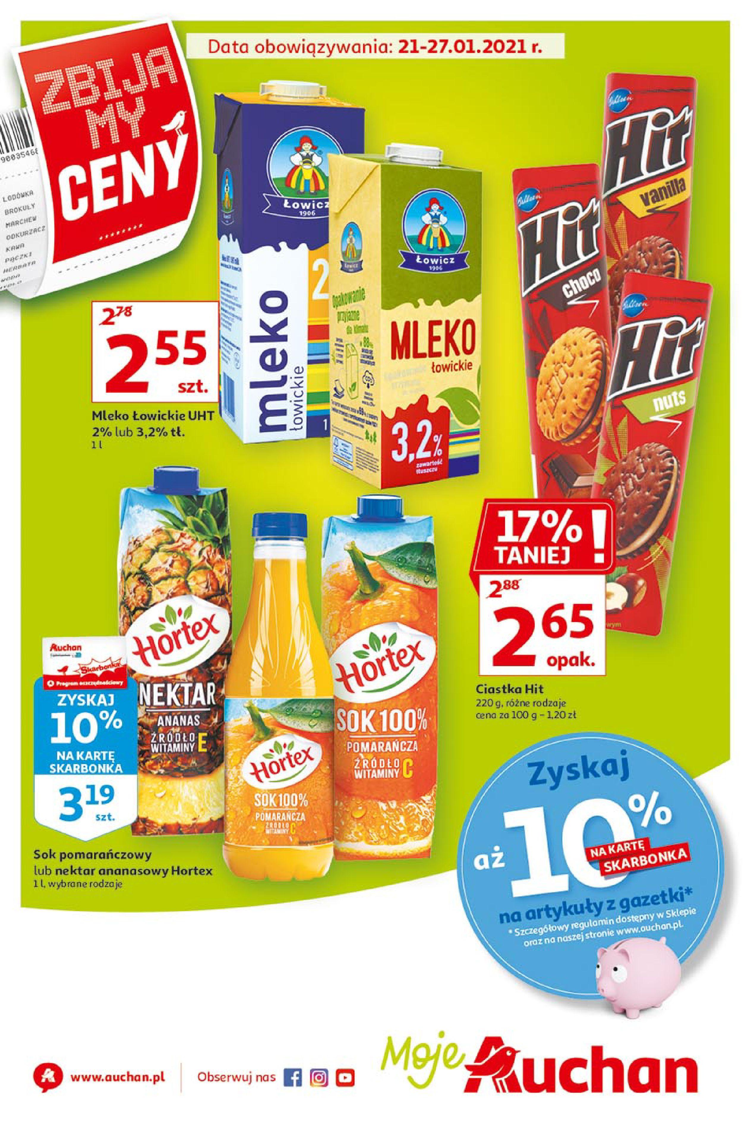 Gazetka Auchan: Zbijamy Ceny Moje Auchan 2021-01-21