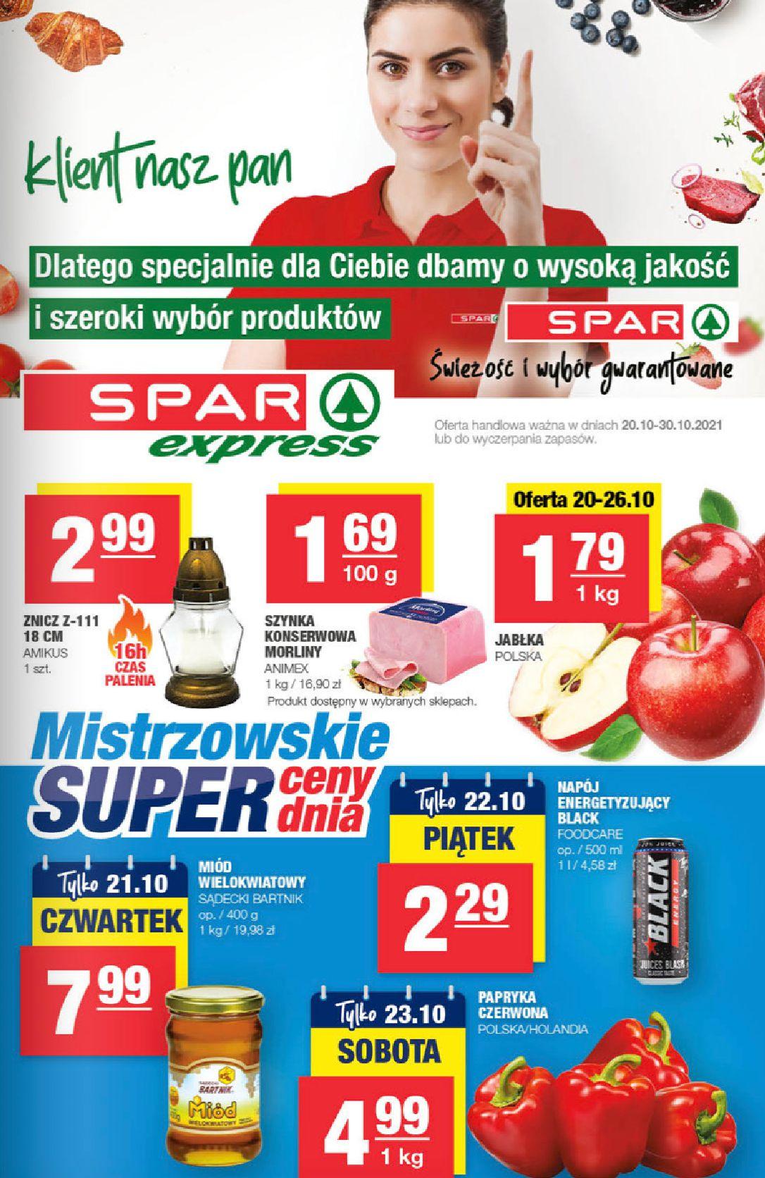 Spar:  Gazetka SPARexpress 19.10.2021