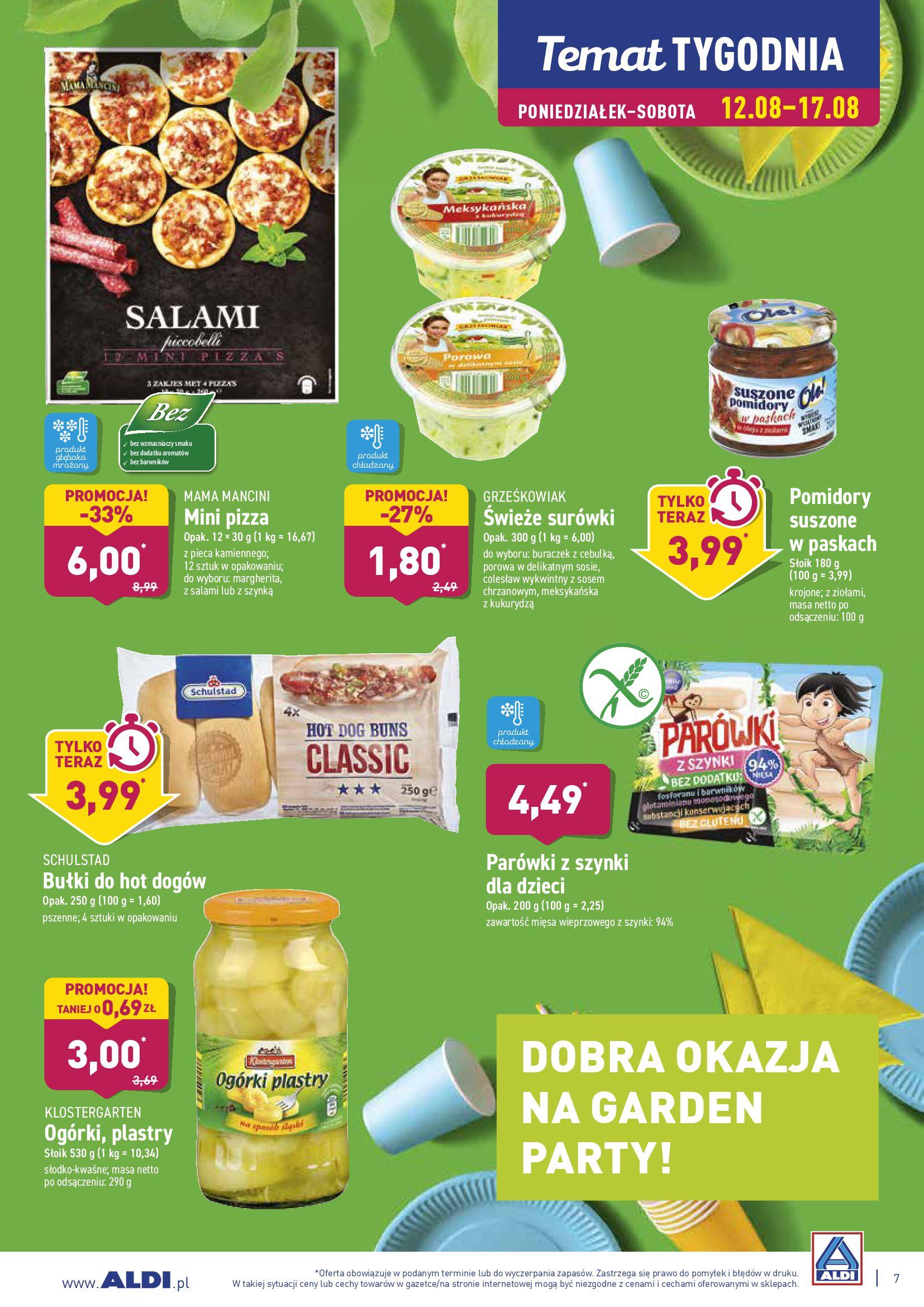 Gazetka Aldi - DOBRA OKAZJA NA GARDEN PARTY!-11.08.2019-18.08.2019-page-7