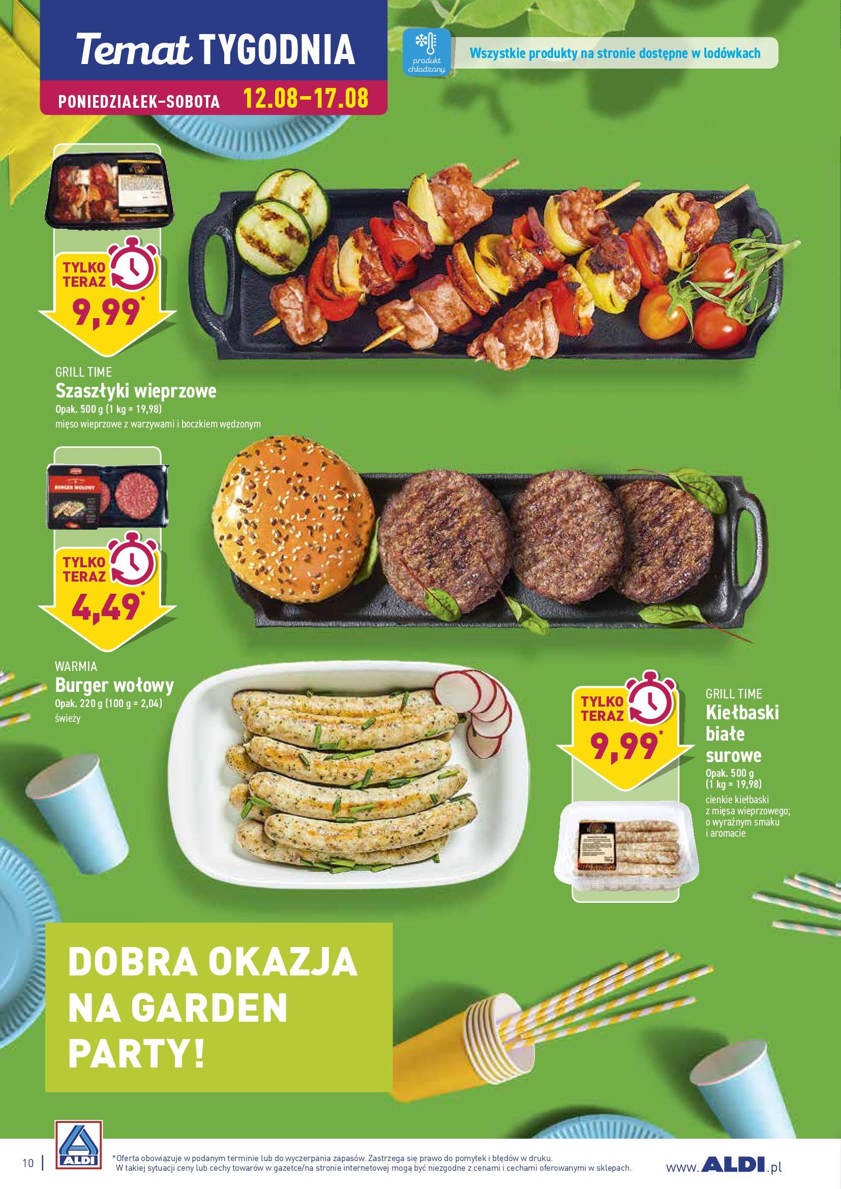 Gazetka Aldi - DOBRA OKAZJA NA GARDEN PARTY!-11.08.2019-18.08.2019-page-10