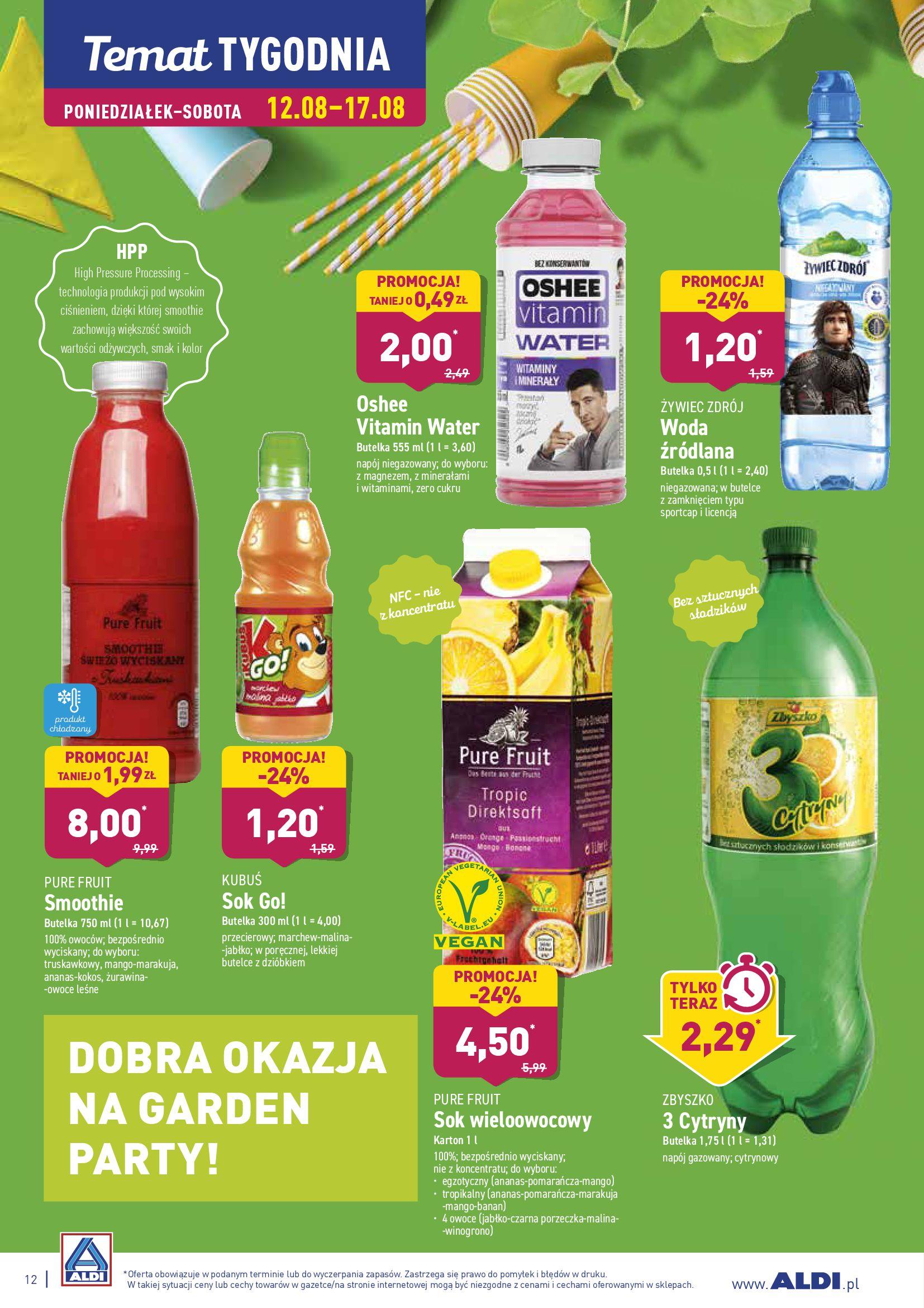 Gazetka Aldi - DOBRA OKAZJA NA GARDEN PARTY!-11.08.2019-18.08.2019-page-12