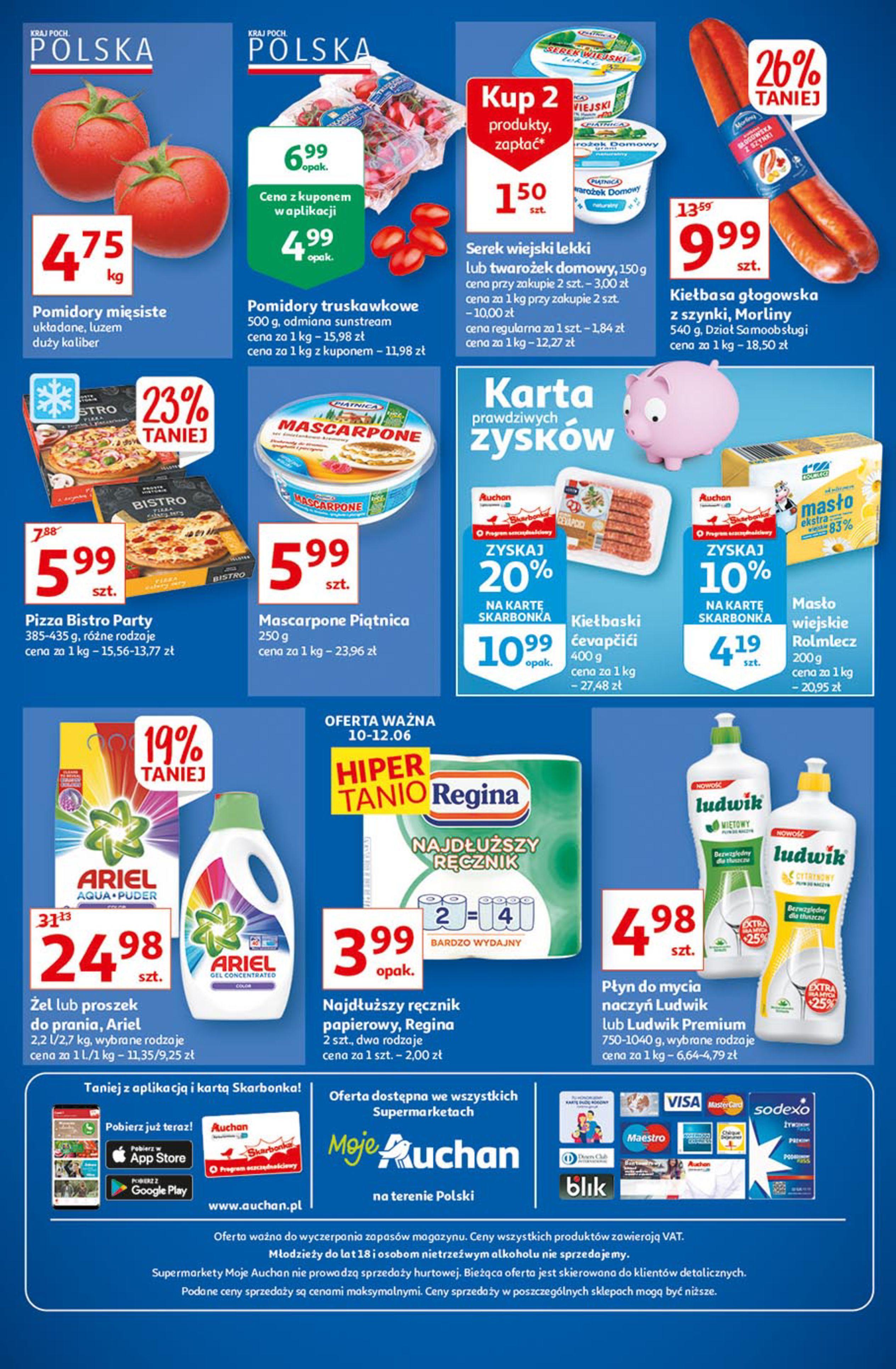 Gazetka Auchan: Gazetka Auchan - Ceny w dół 2021-06-10 page-1